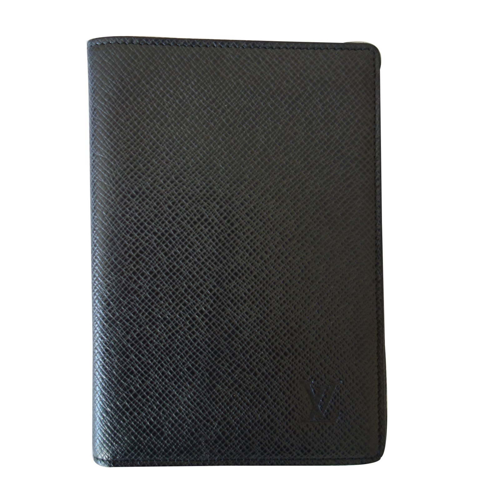 Petite Maroquinerie Homme Louis Vuitton Porte Passeport Cuir Noir - Porte passeport cuir