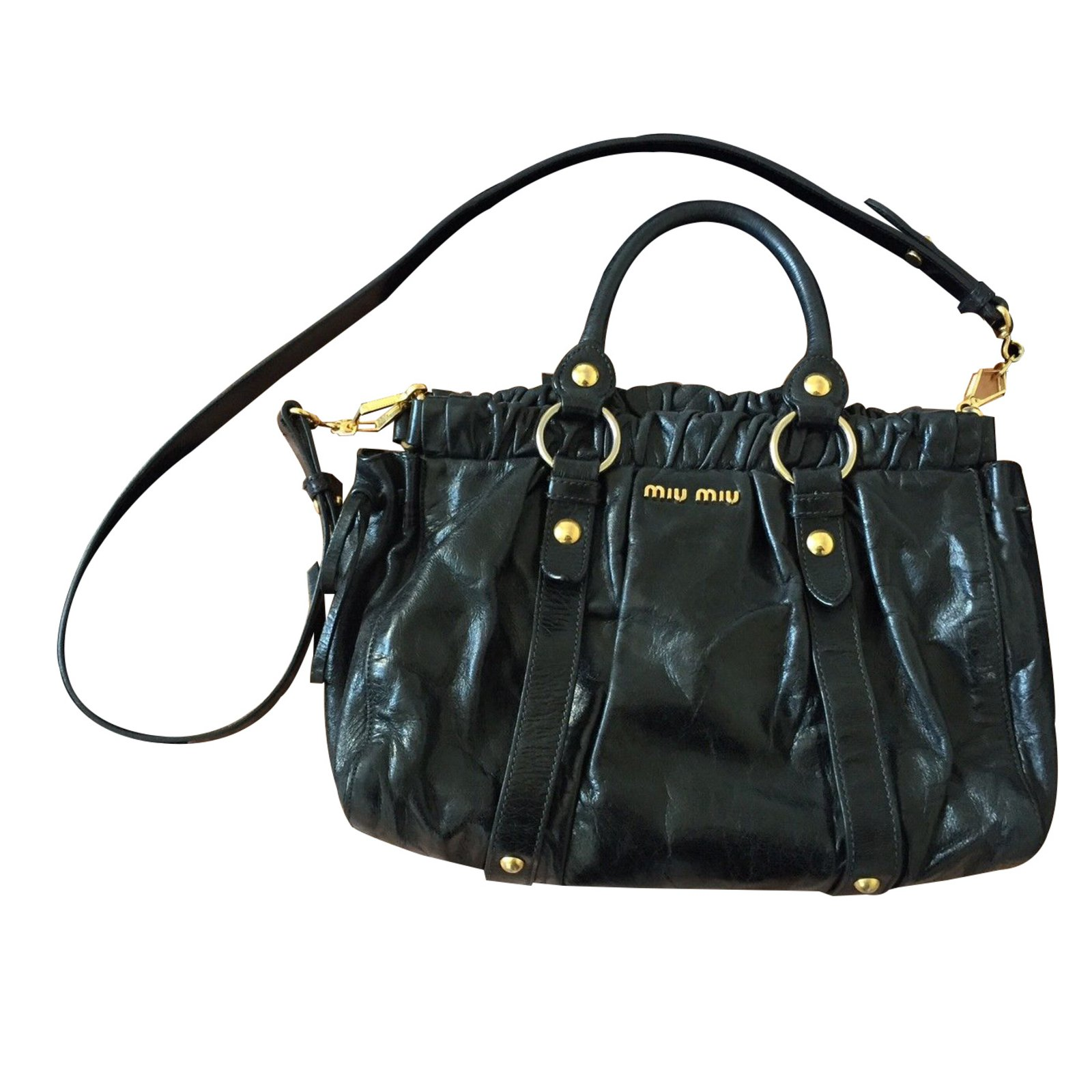 b21ae2dc53e Miu Miu Handbags Handbags Leather Black ref.14239 - Joli Closet