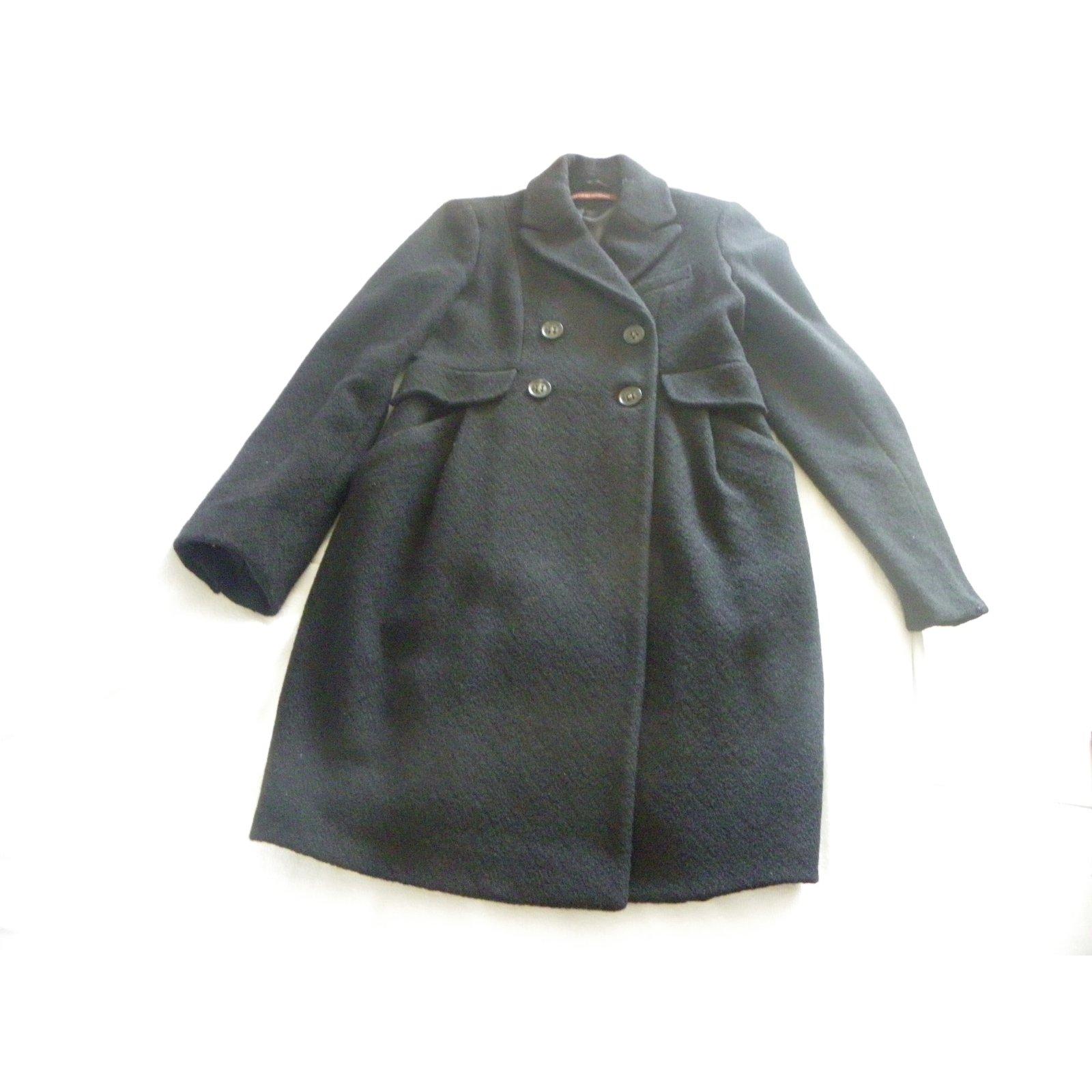 Manteaux comptoir des cotonniers manteau laine noir ref - Manteau femme comptoir des cotonniers ...