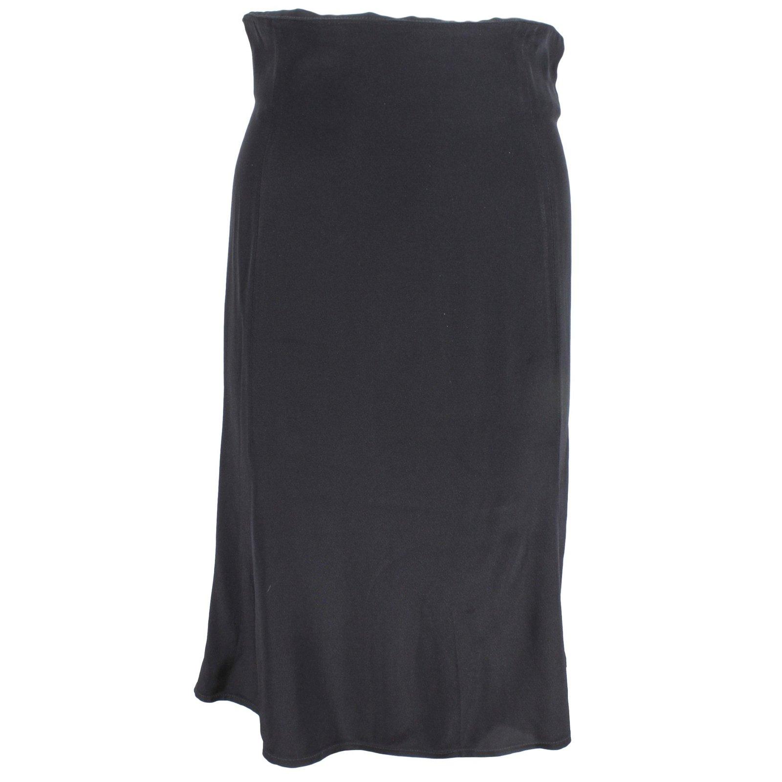jupes christian lacroix jupe taille haute viscose noir ref. Black Bedroom Furniture Sets. Home Design Ideas