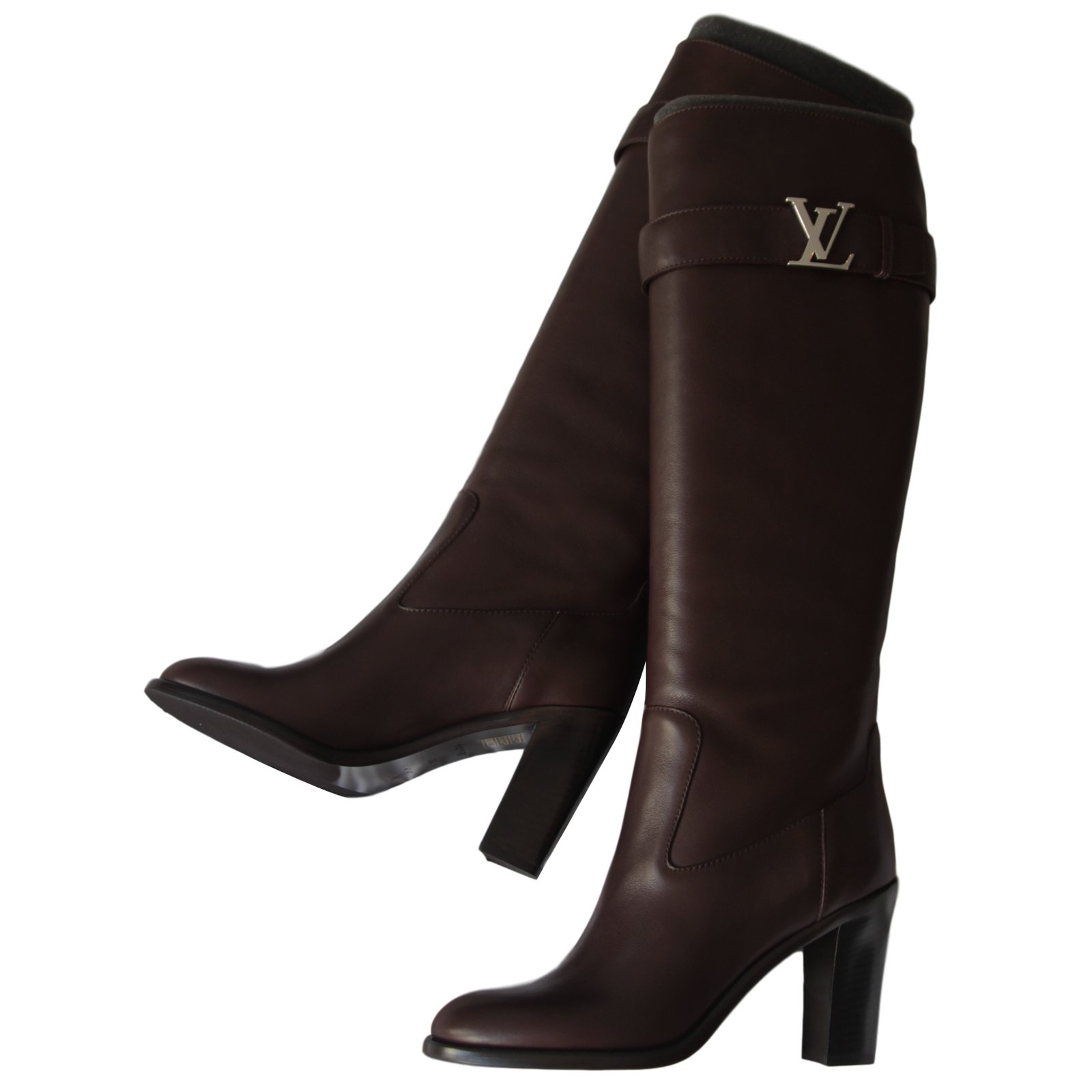 Bottes Louis Vuitton LEGACY HIGH Cuir Marron ref.14425 - Joli Closet 551f62d05db