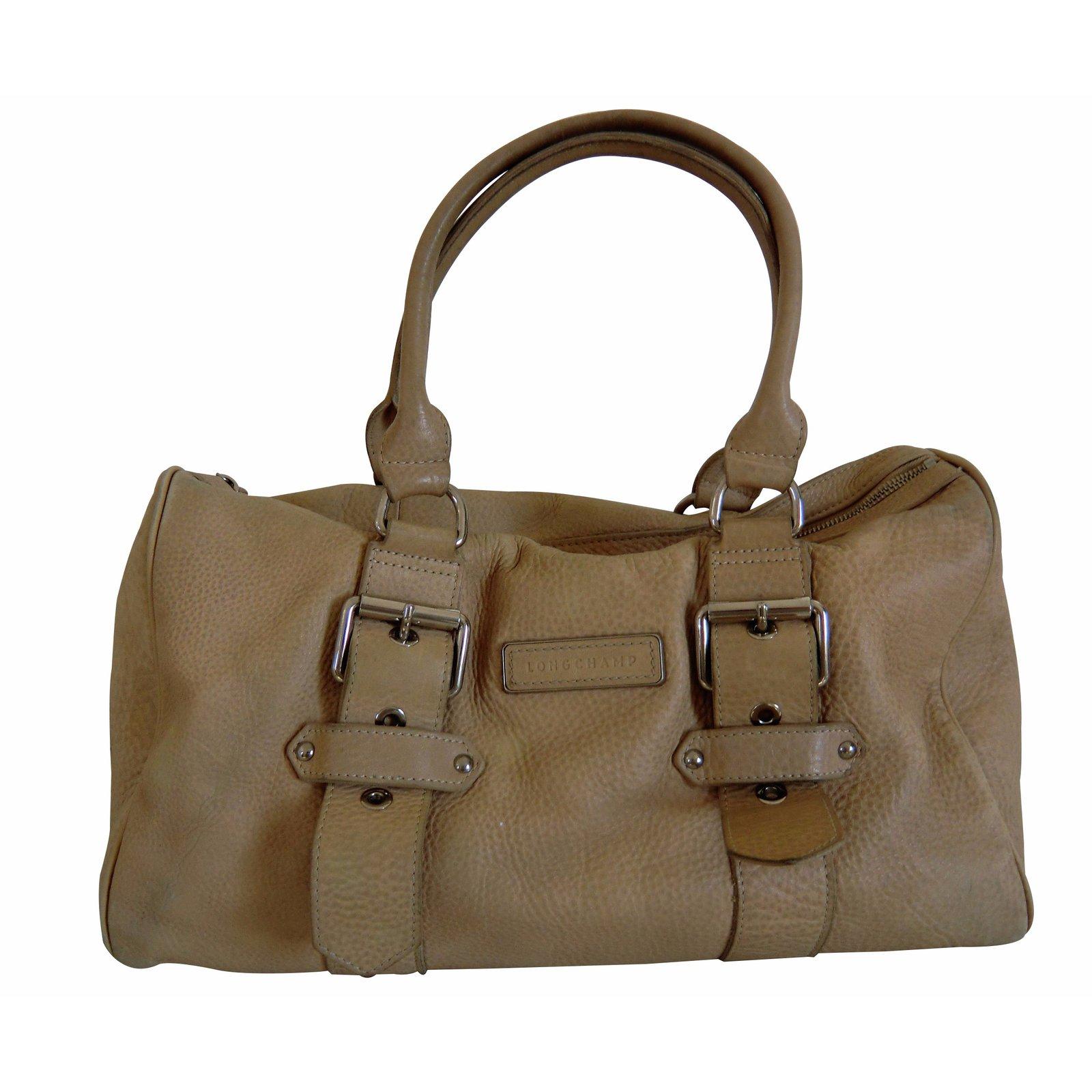 sacs main longchamp sacs main cuir beige joli closet. Black Bedroom Furniture Sets. Home Design Ideas