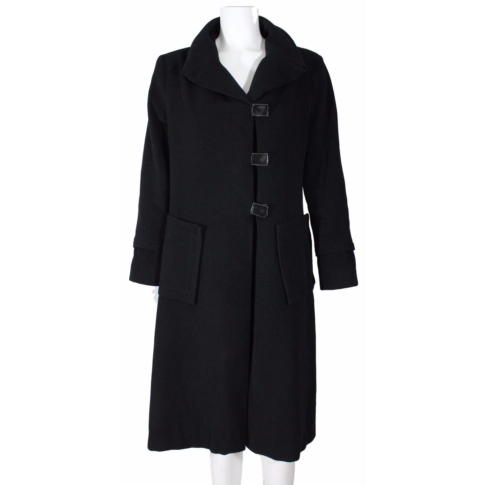 manteaux zapa manteau laine laine noir joli closet. Black Bedroom Furniture Sets. Home Design Ideas