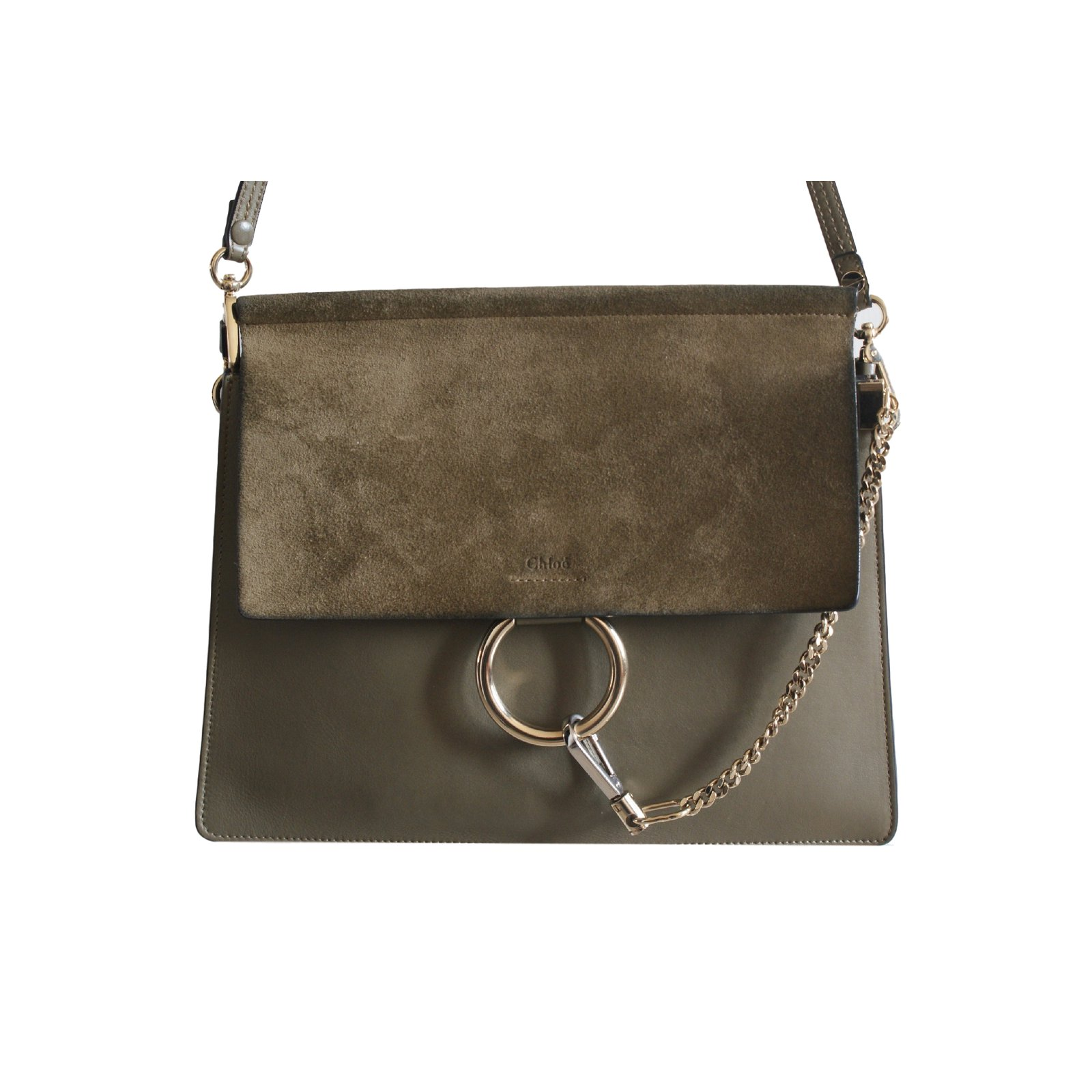 Exceptionnel Chloé Handbags Handbags Leather Khaki ref.14760 - Joli Closet NA92