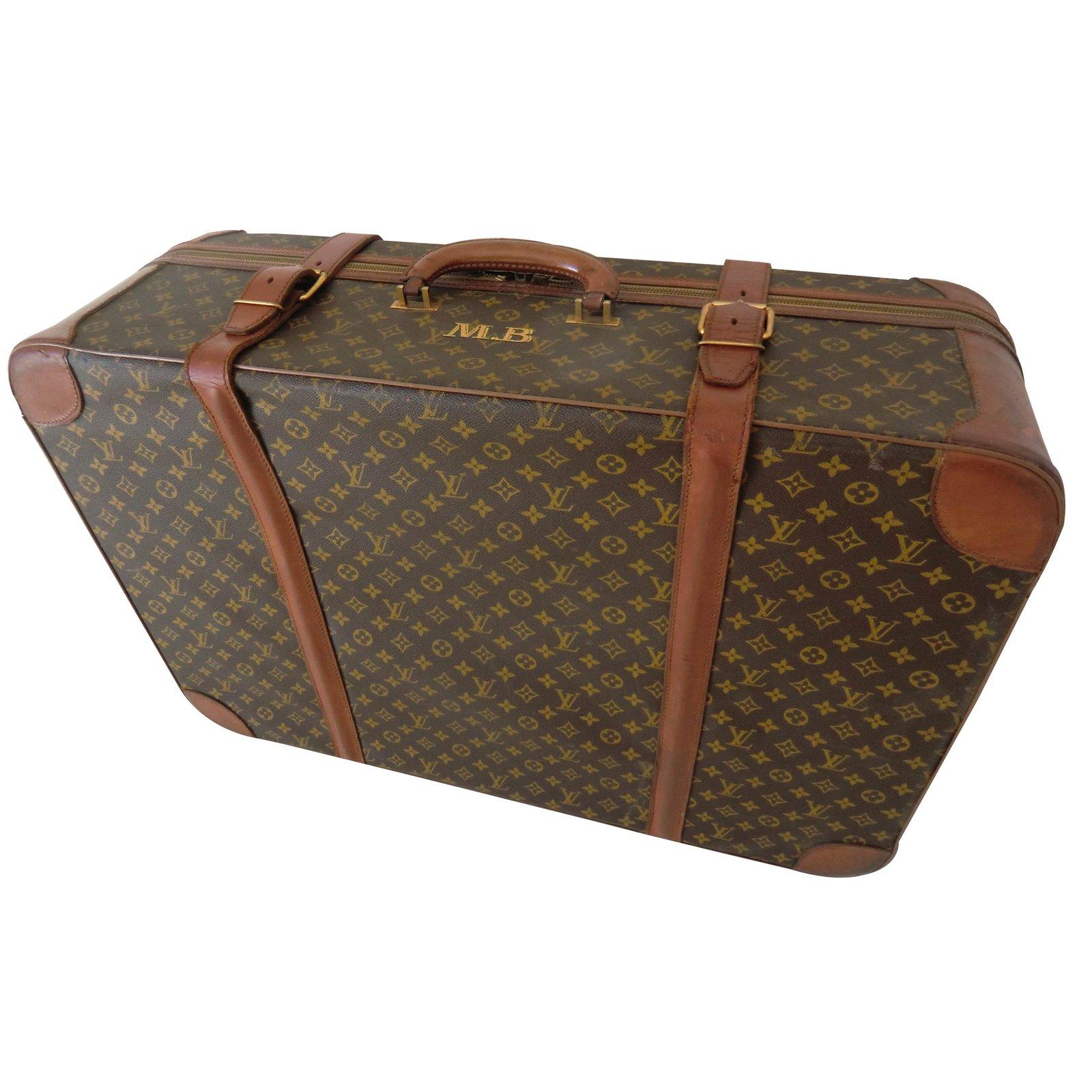Louis Vuitton Travel Bag Cloth Brown Ref 14816