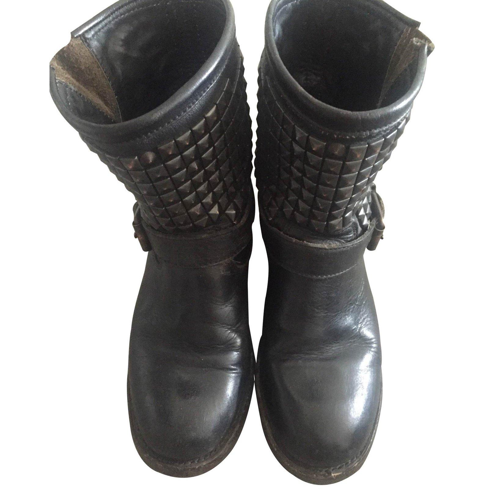 bottes ash bottes cuir noir joli closet. Black Bedroom Furniture Sets. Home Design Ideas