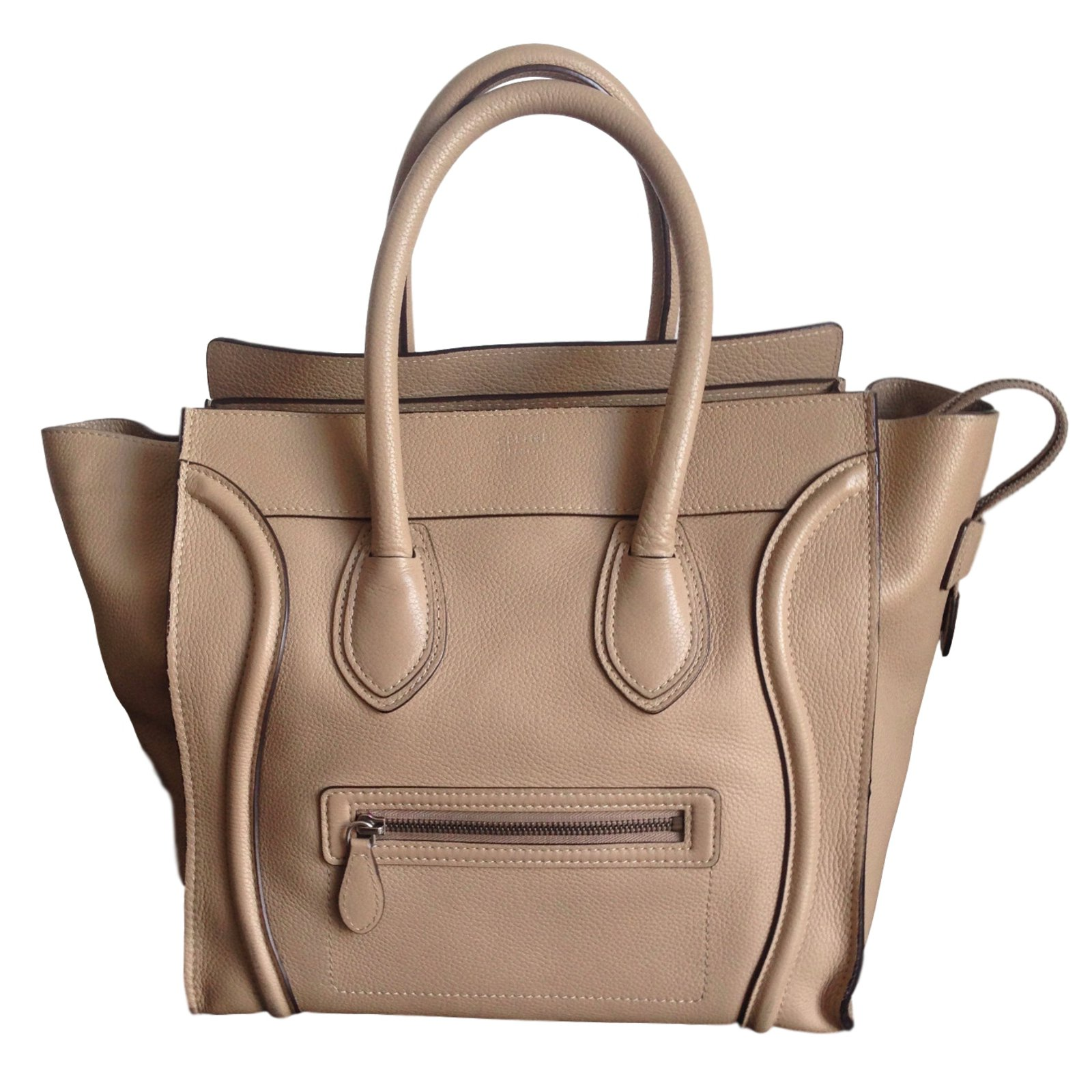 Sac A Main Beige Longchamps : Celine sac a main black leather luggage bag
