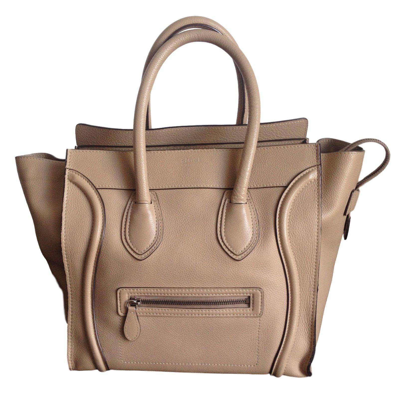 sacs main c line luggage cuir beige joli closet. Black Bedroom Furniture Sets. Home Design Ideas