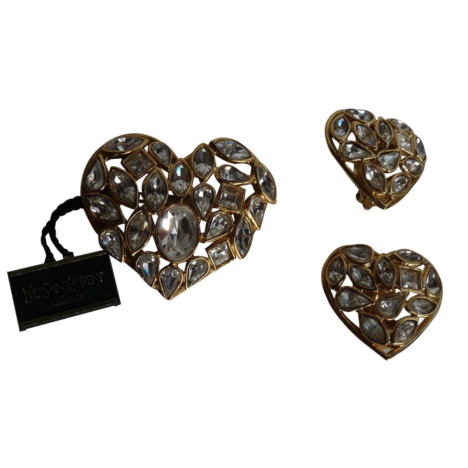 8349add64b8 Yves Saint Laurent Jewellery sets Jewellery sets Metal White ref.14983