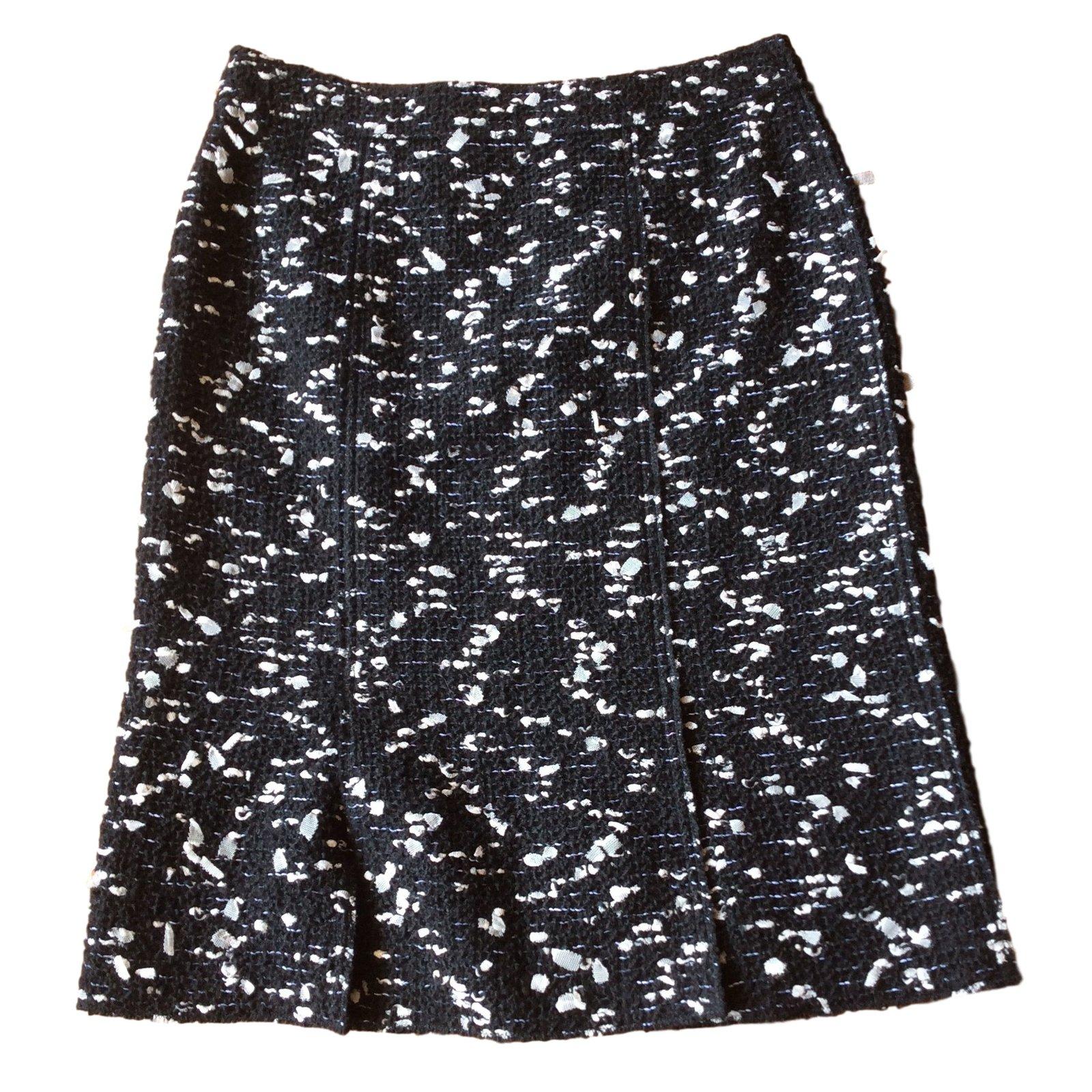 924fafc6d95 Jupes Chanel Jupe noire et blanche Laine Noir ref.15017 - Joli Closet