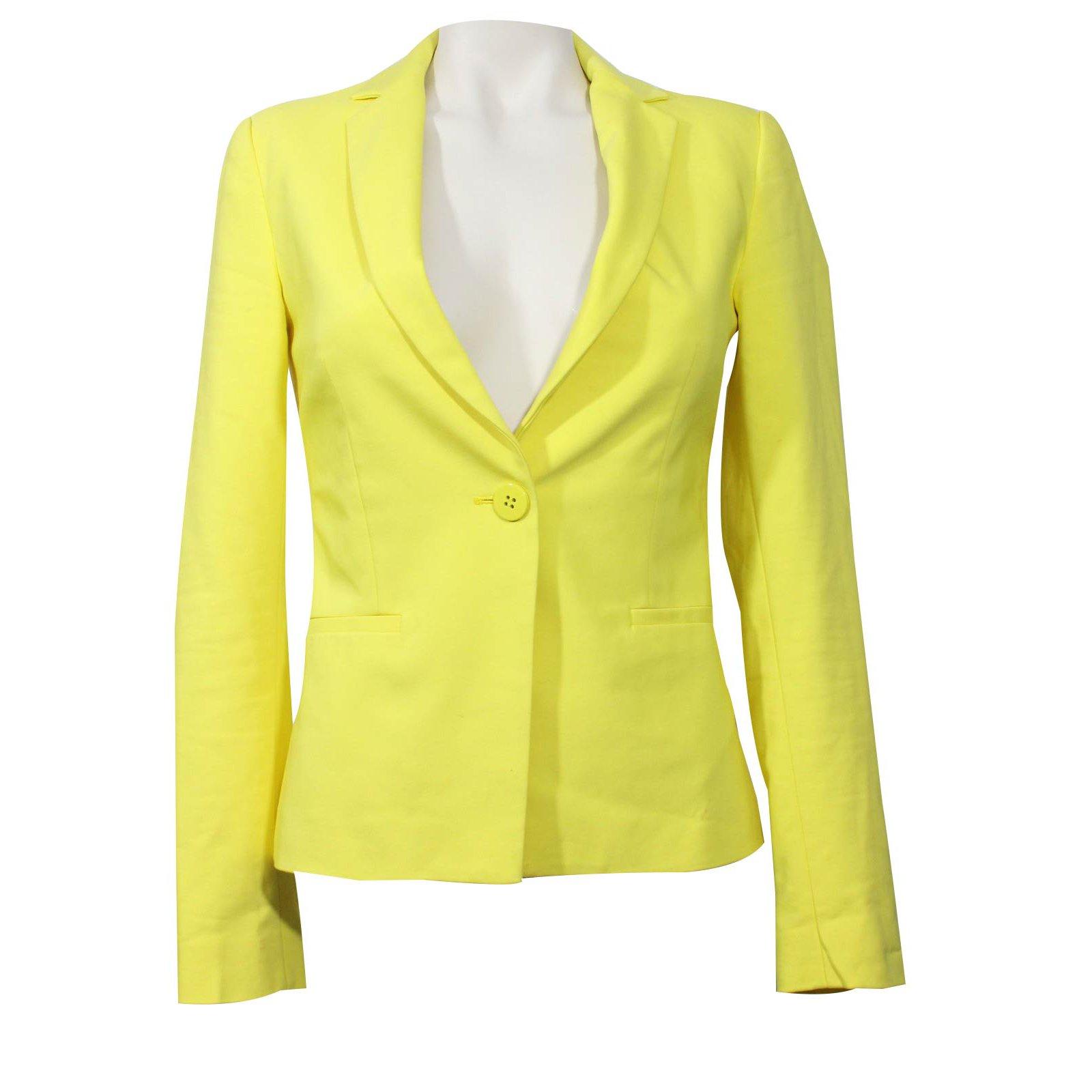 blazer femme zara jaune. Black Bedroom Furniture Sets. Home Design Ideas