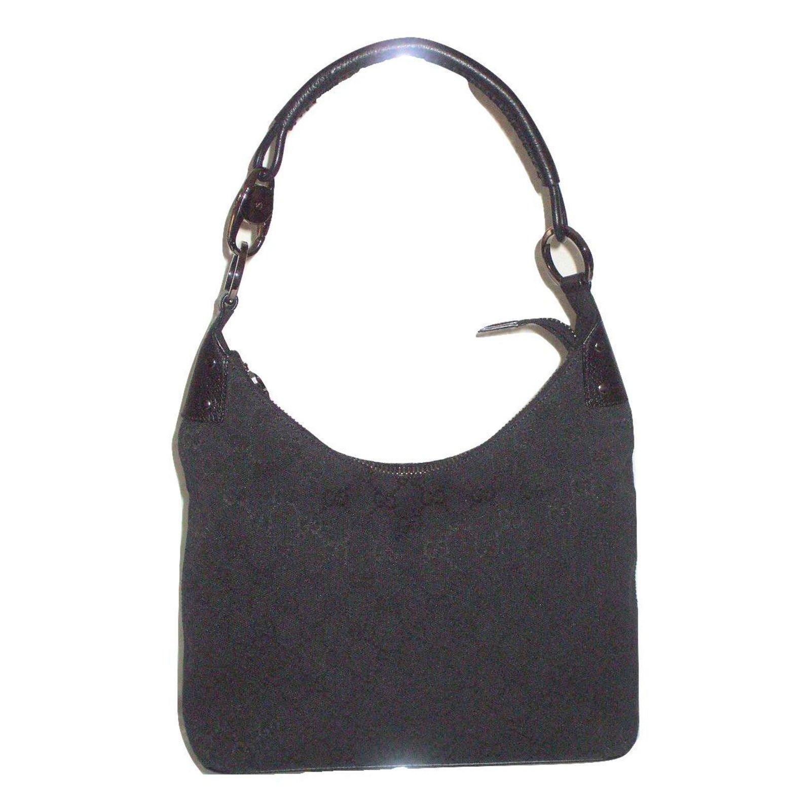 gucci handbags handbags cloth black ref15052 joli closet