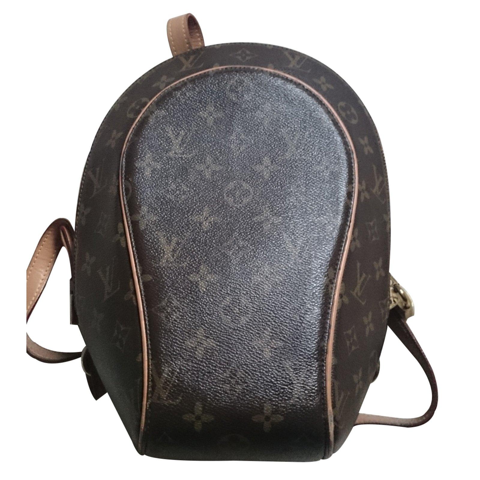 sacs dos louis vuitton sac dos cuir marron. Black Bedroom Furniture Sets. Home Design Ideas