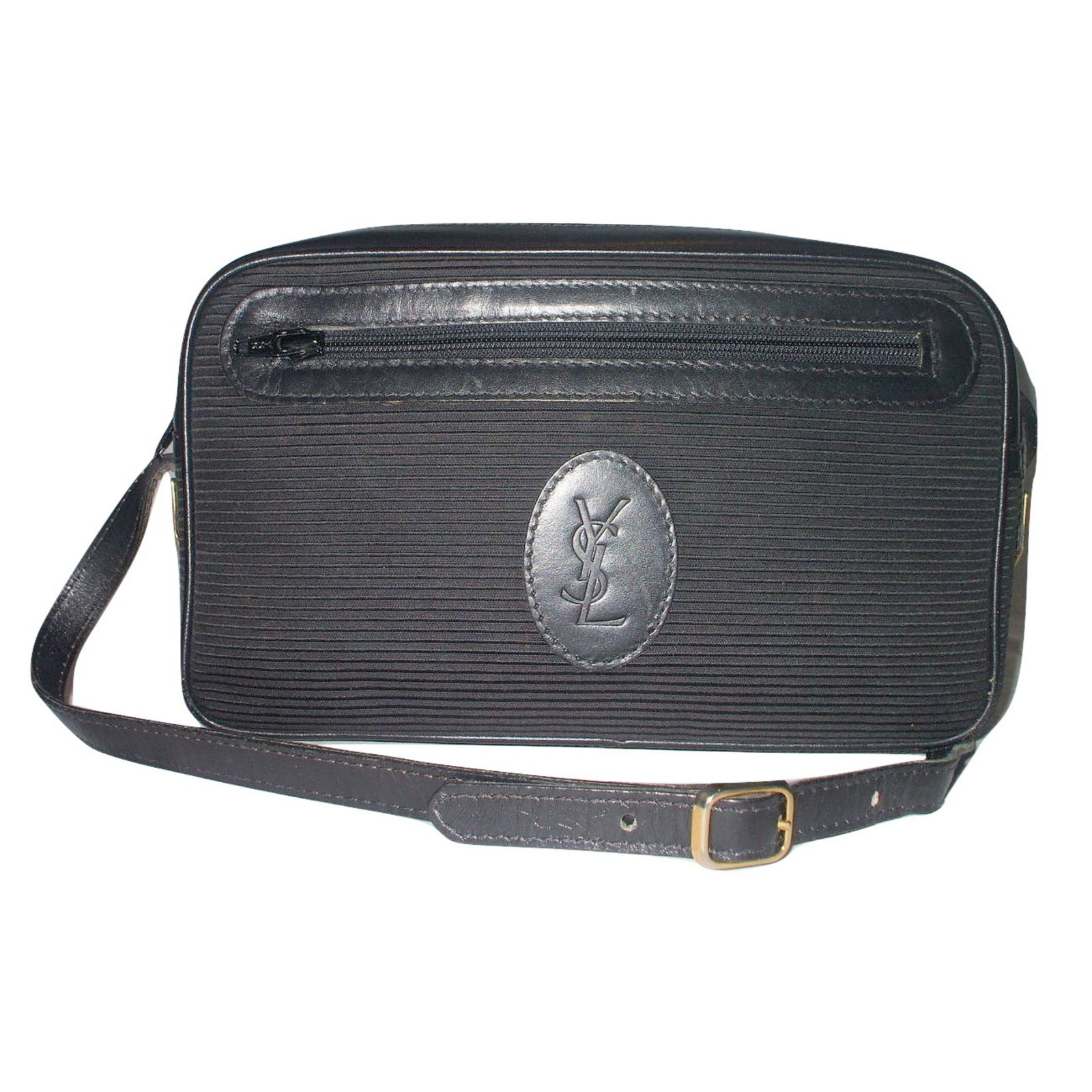 58c7457a869 Yves Saint Laurent Handbags Handbags Cloth Black ref.15413 - Joli Closet