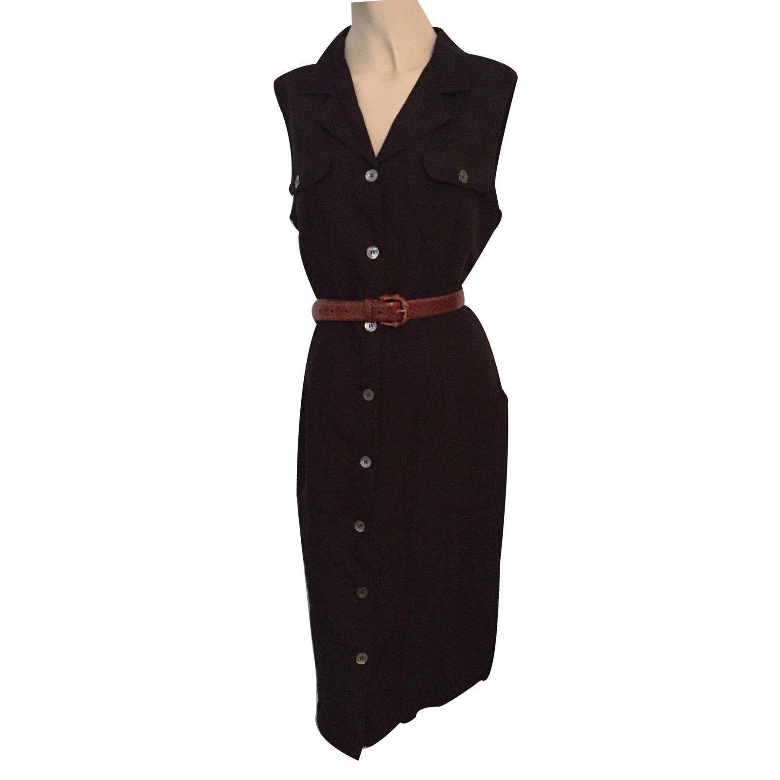 05fb1928de1 Robes Pennyblack Robe Lin Noir ref.15714 - Joli Closet