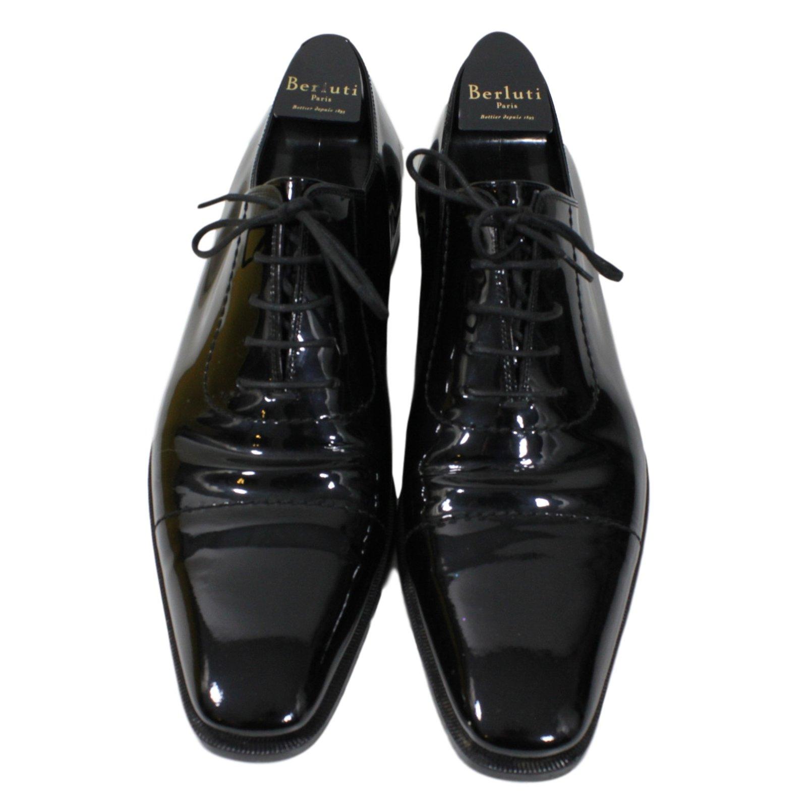 Derbies homme Gucci chaussures Gucci Homme Cuir vernis Noir ref.15748 6604454537c