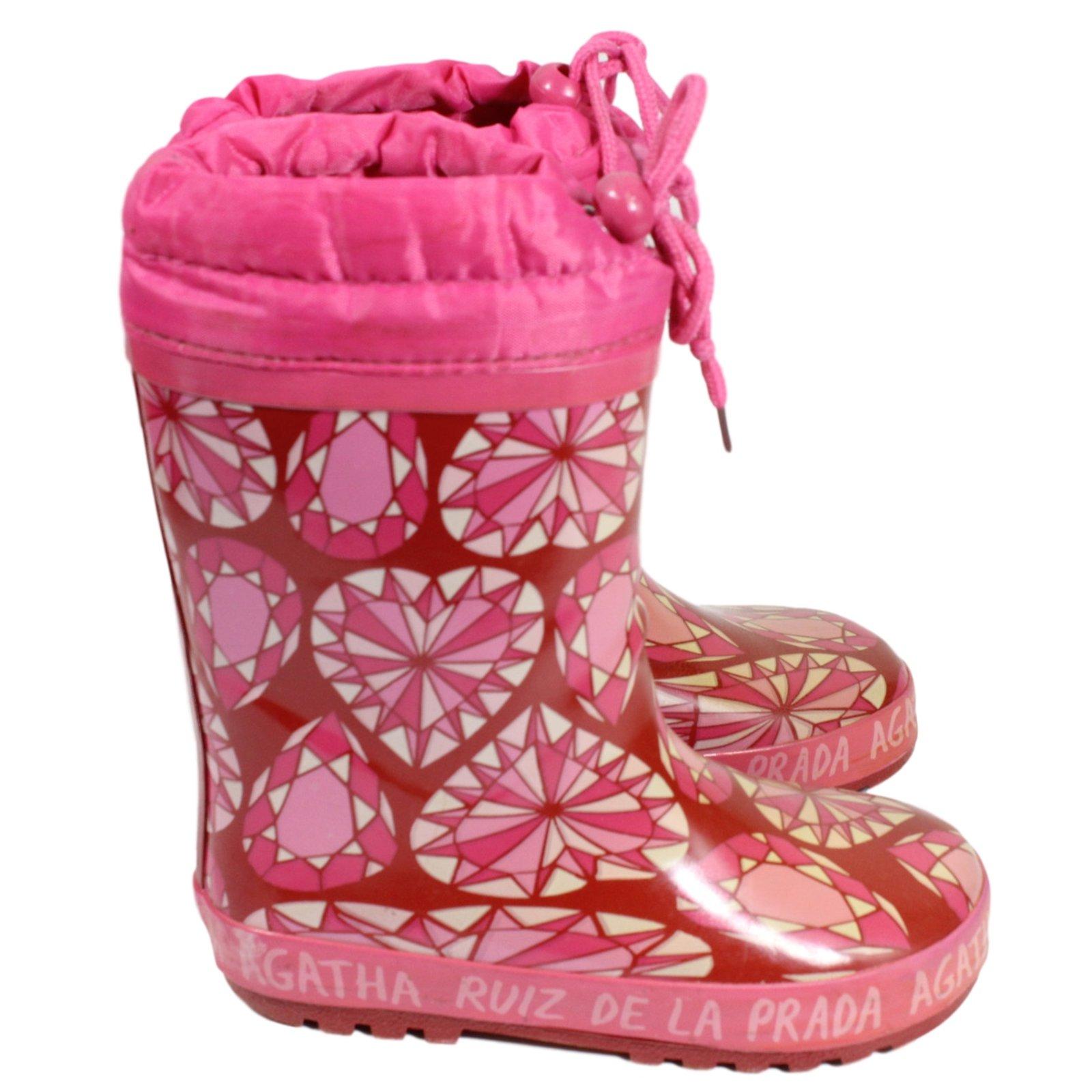bottes bottines agatha ruiz de la prada moon boots enfant tissu rose joli closet. Black Bedroom Furniture Sets. Home Design Ideas