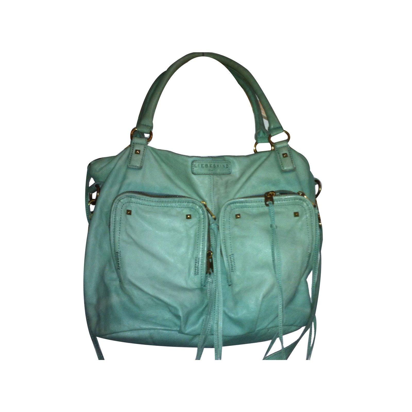 Liebeskind Berlin Handbags Leather Green Ref 15890