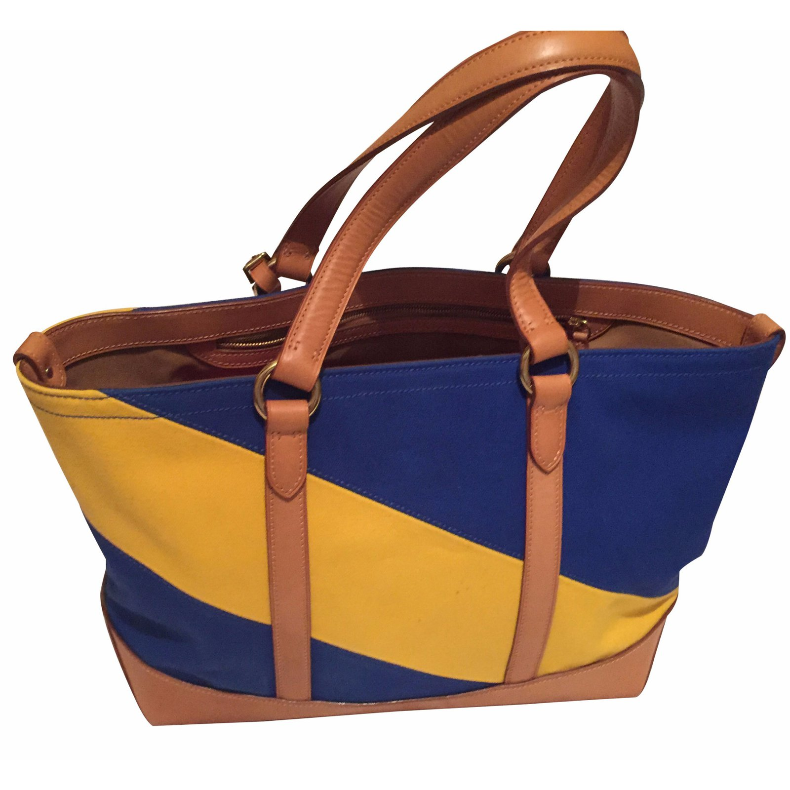48cfd13895 Ralph Lauren Handbag Handbags Cloth Blue ref.16451 - Joli Closet