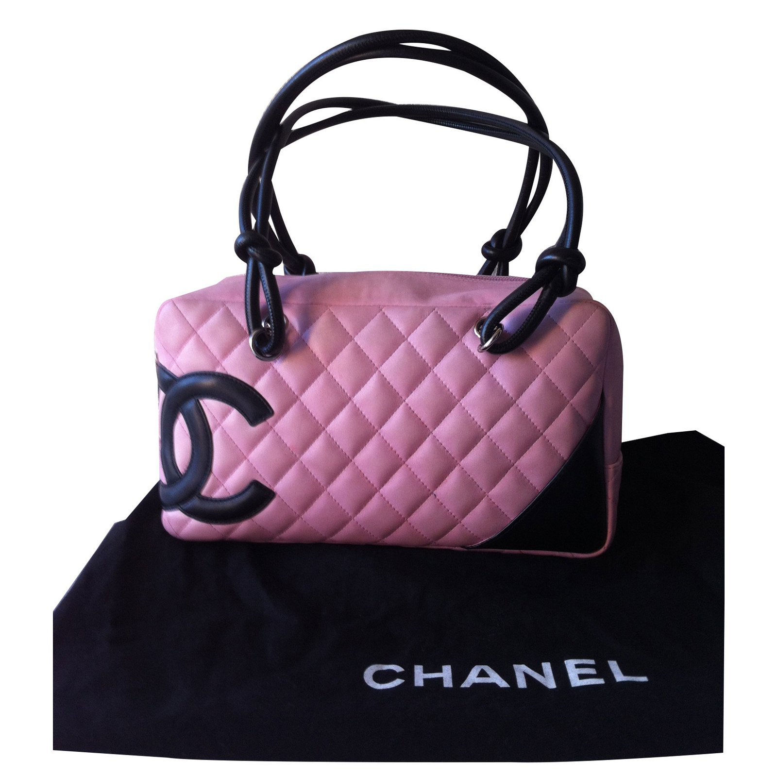 Sacs à main Chanel CAMBON Cuir Rose ref.16725 - Joli Closet e941f890d70