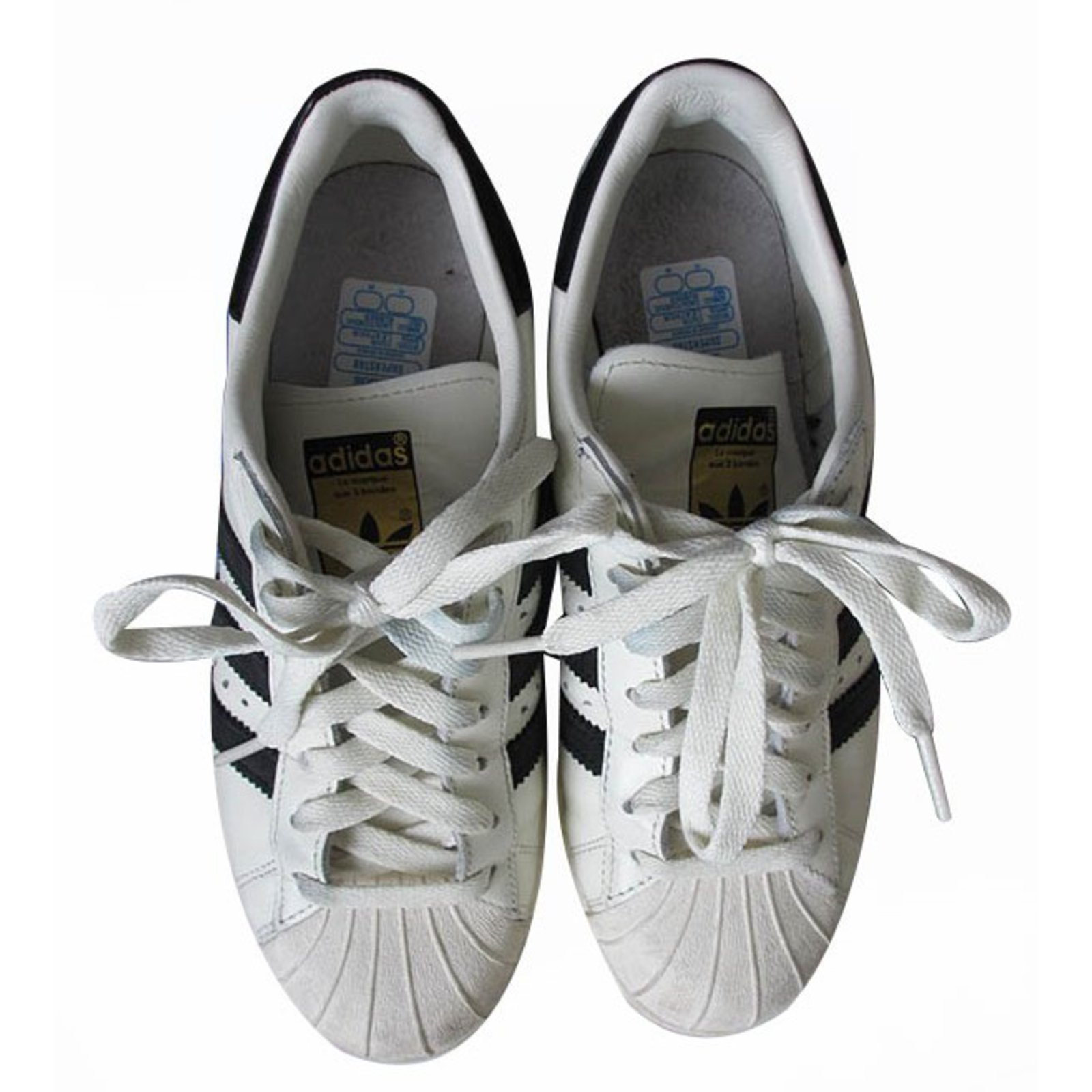 Baskets Adidas Superstar 80s DLX Cuir Blanc ref.16931