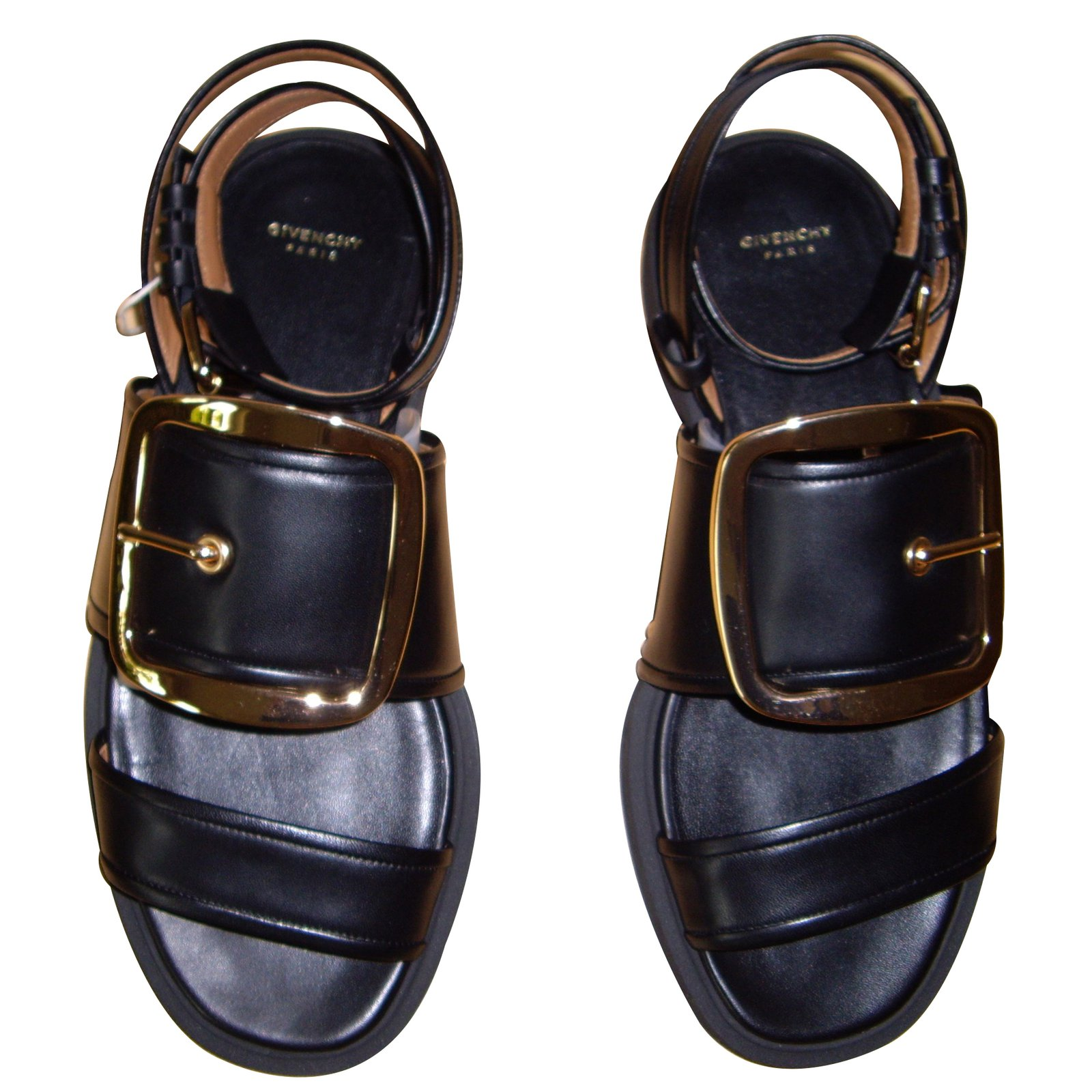 1ac01ee2314 Sandales Givenchy Sandales Cuir Noir ref.16947 - Joli Closet