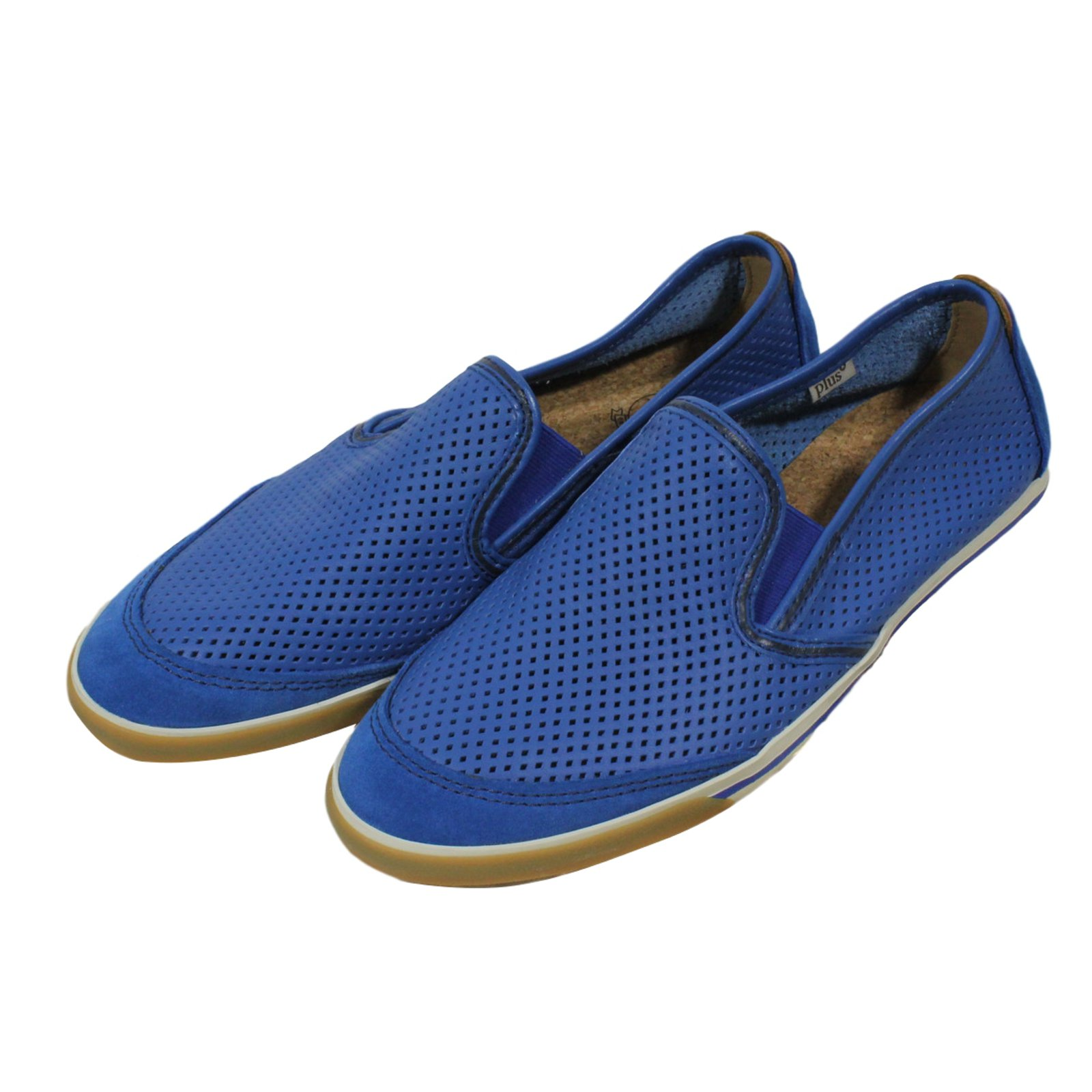 Clarks Tennis Sneakers Leather Blue ref
