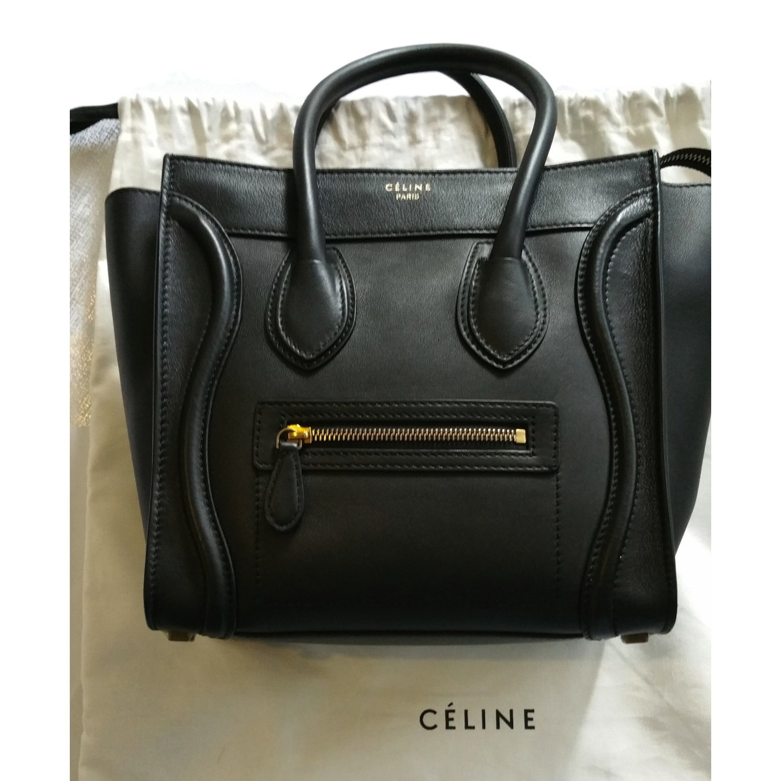 celine sac a main noir celine nano luggage tote. Black Bedroom Furniture Sets. Home Design Ideas