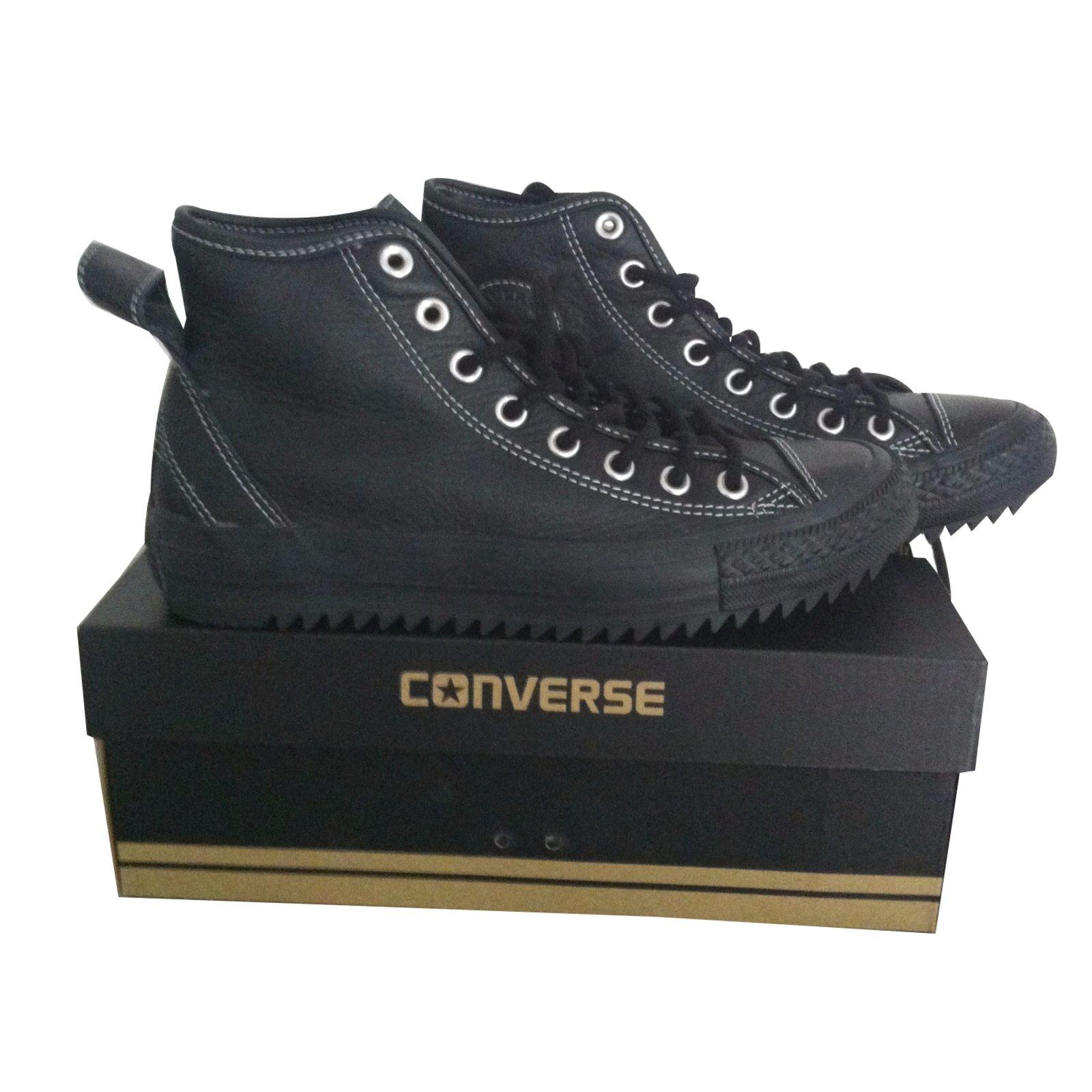 chaussure converse cuir