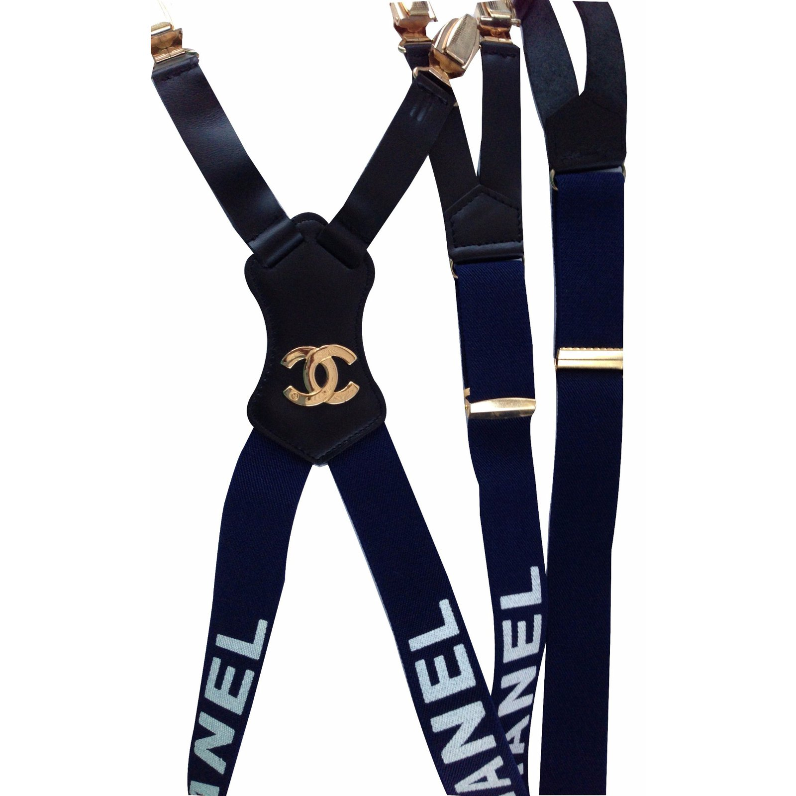 Ceintures Chanel Bretelles Chanel Synthétique Bleu ref.17450 0c5764c8eb2