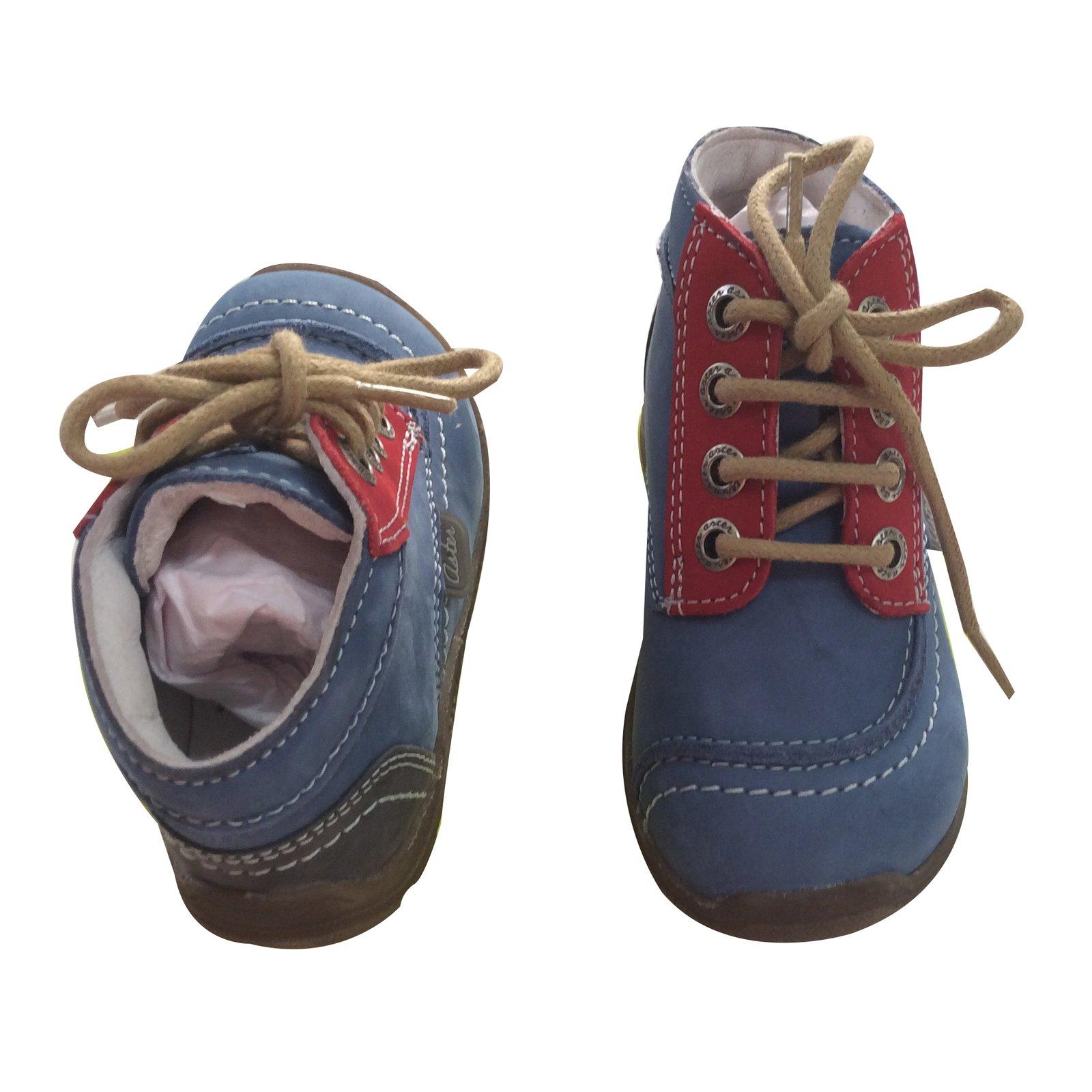 9ea10976c40e49 Chaussures à lacets Autre Marque Chaussure aster enfant Cuir Bleu ref.17833