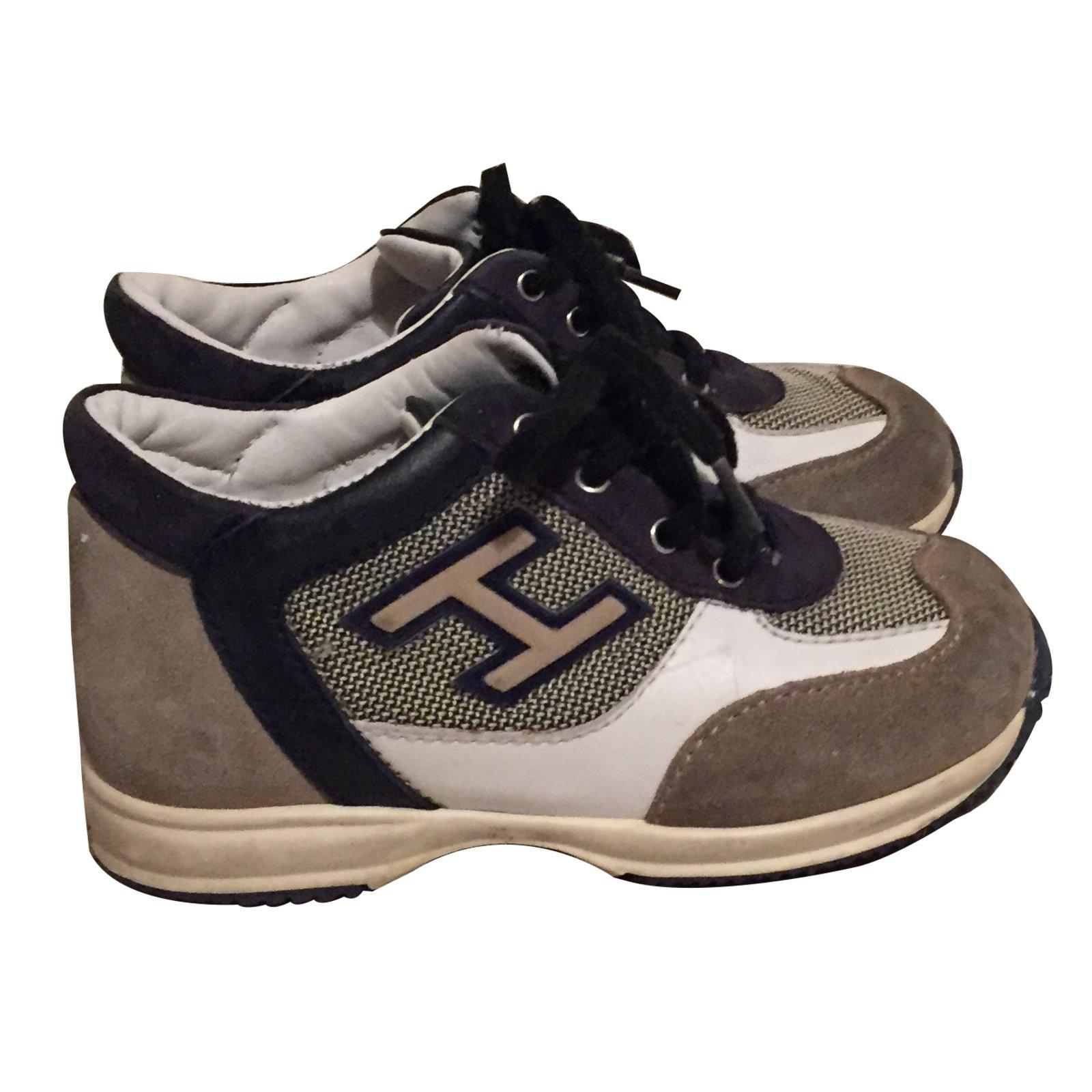 Hogan Sneakers Grey Deerskin ref.17878 - Joli Closet