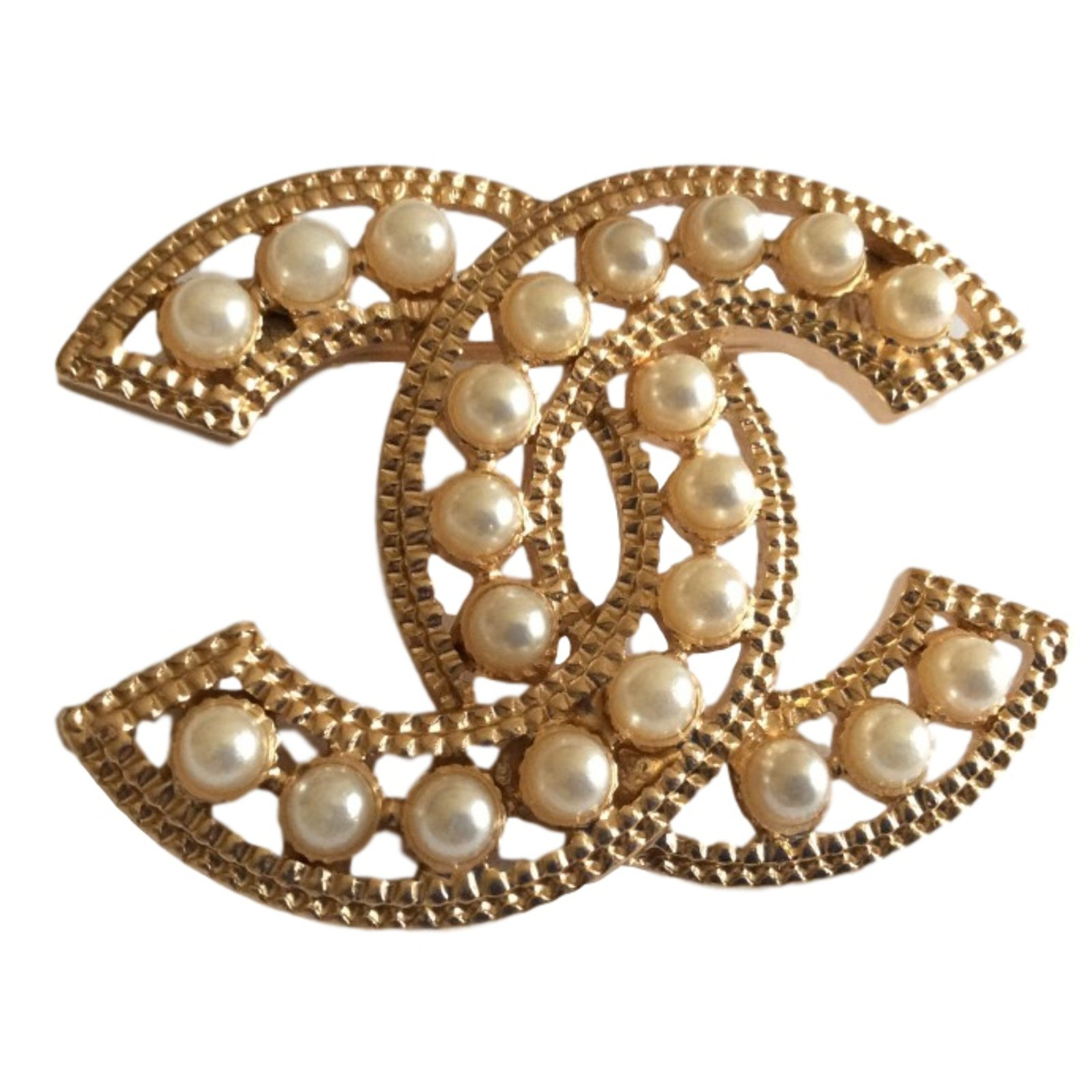 x pearl chanel site product silver brooch the cc club side