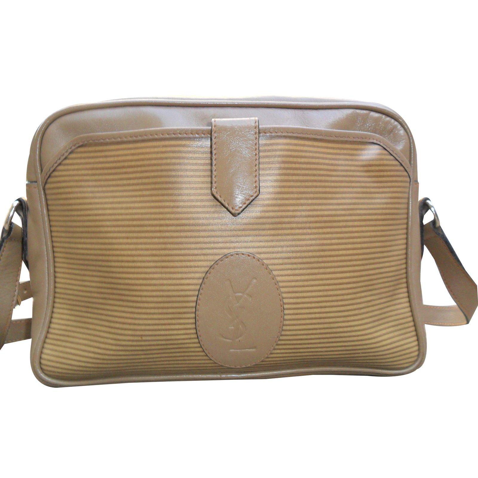 Yves Saint Laurent Handbags Leather Khaki Ref 17946
