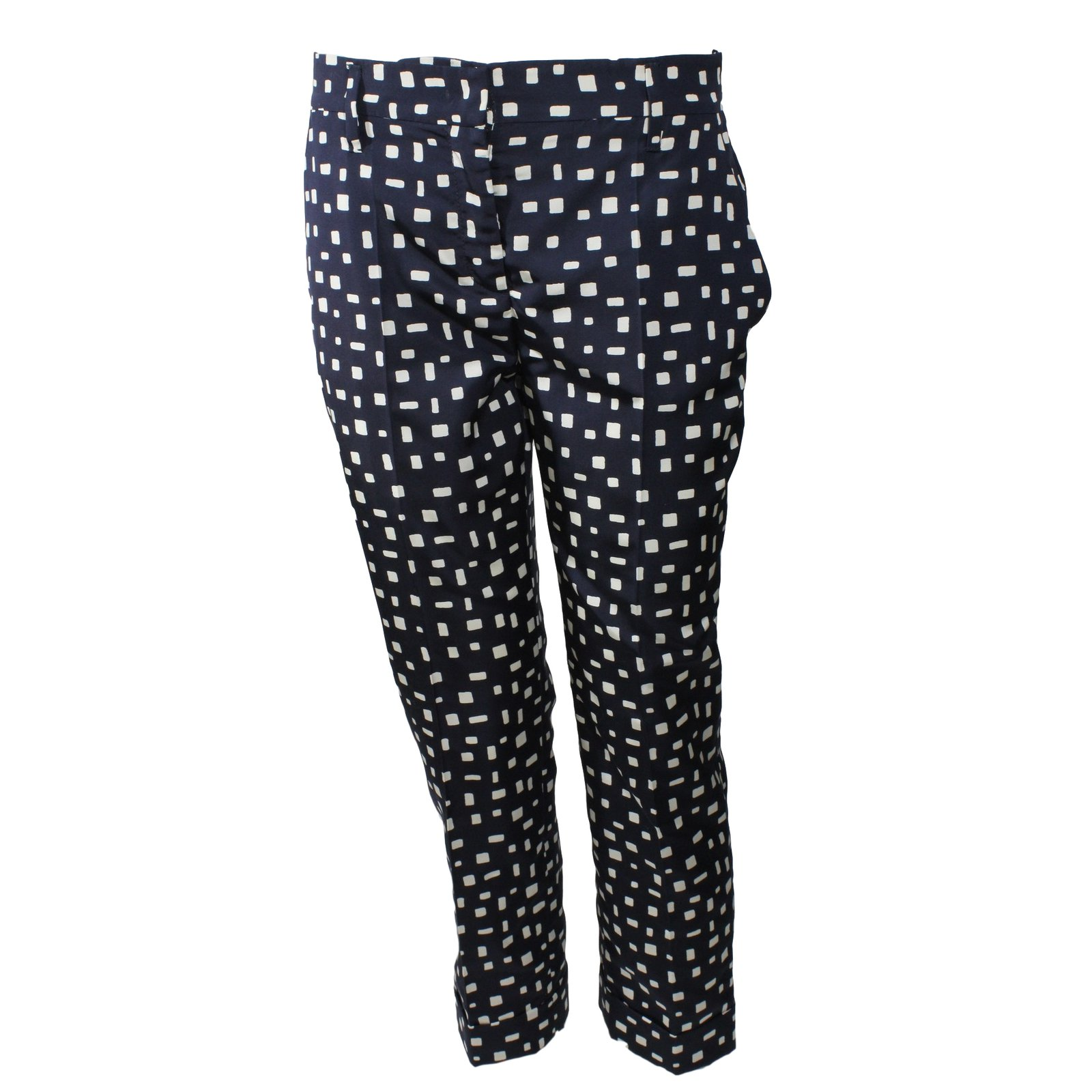 pantalons prada pantalon en soie soie bleu joli closet. Black Bedroom Furniture Sets. Home Design Ideas