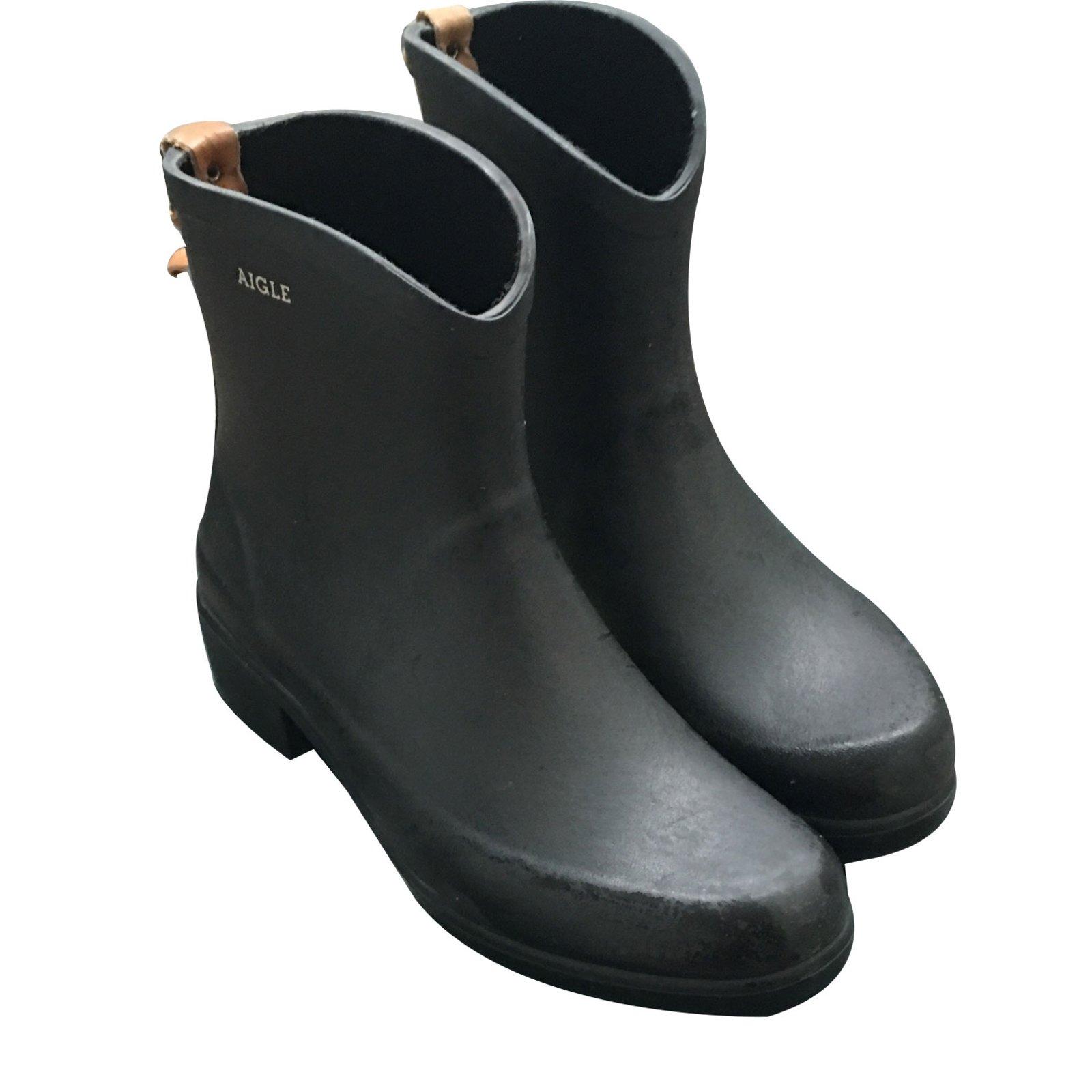 59bd09f37 Aigle Ankle Boots Ankle Boots Rubber Black ref.18263 - Joli Closet