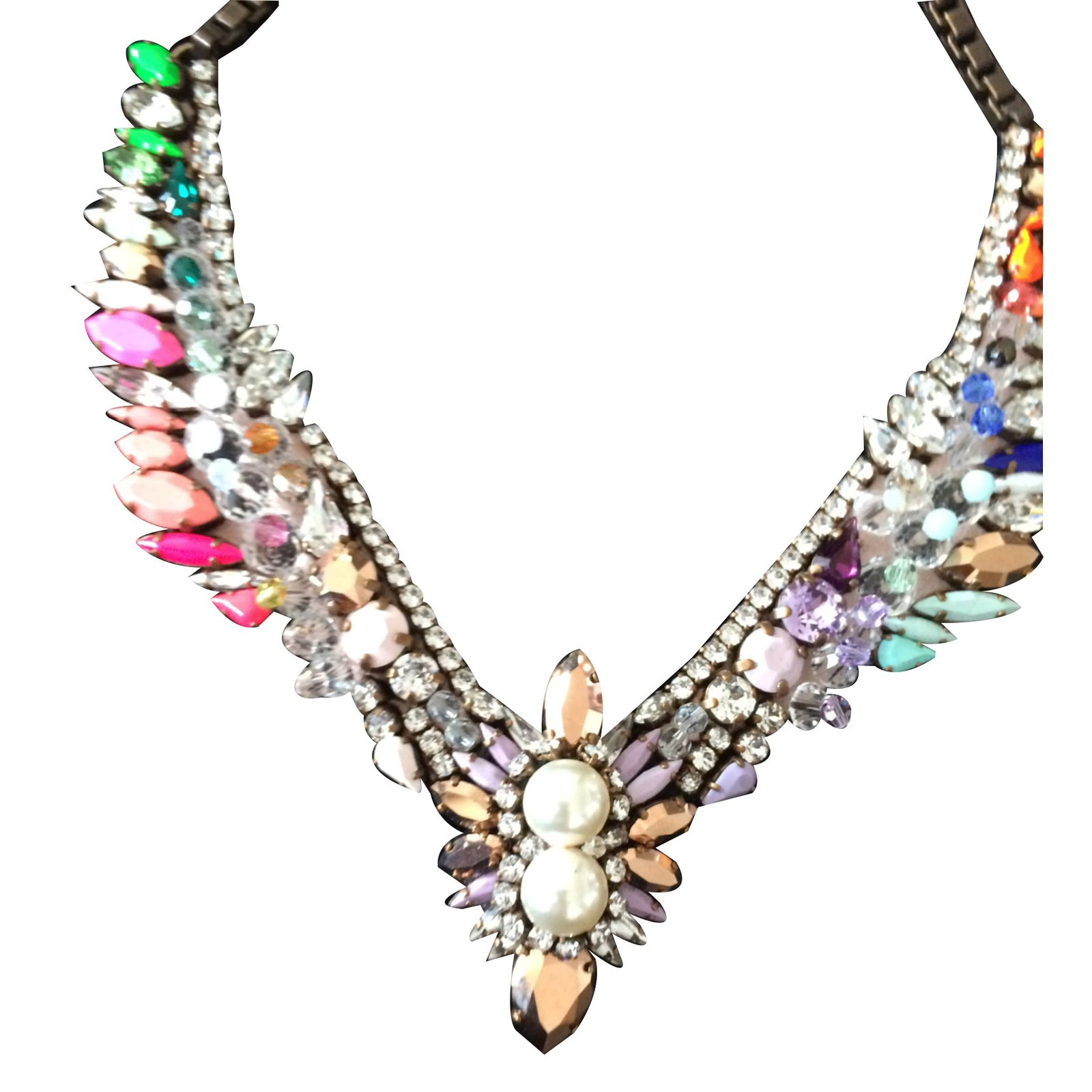 jewelry product pink lyst necklace purple gallery shourouk in holy