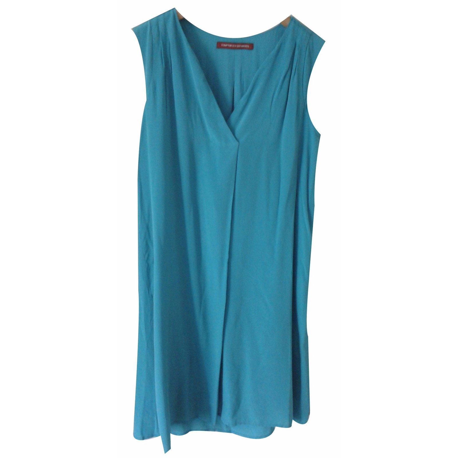 Robes comptoir des cotonniers robes soie vert - Robe blanche comptoir des cotonniers ...