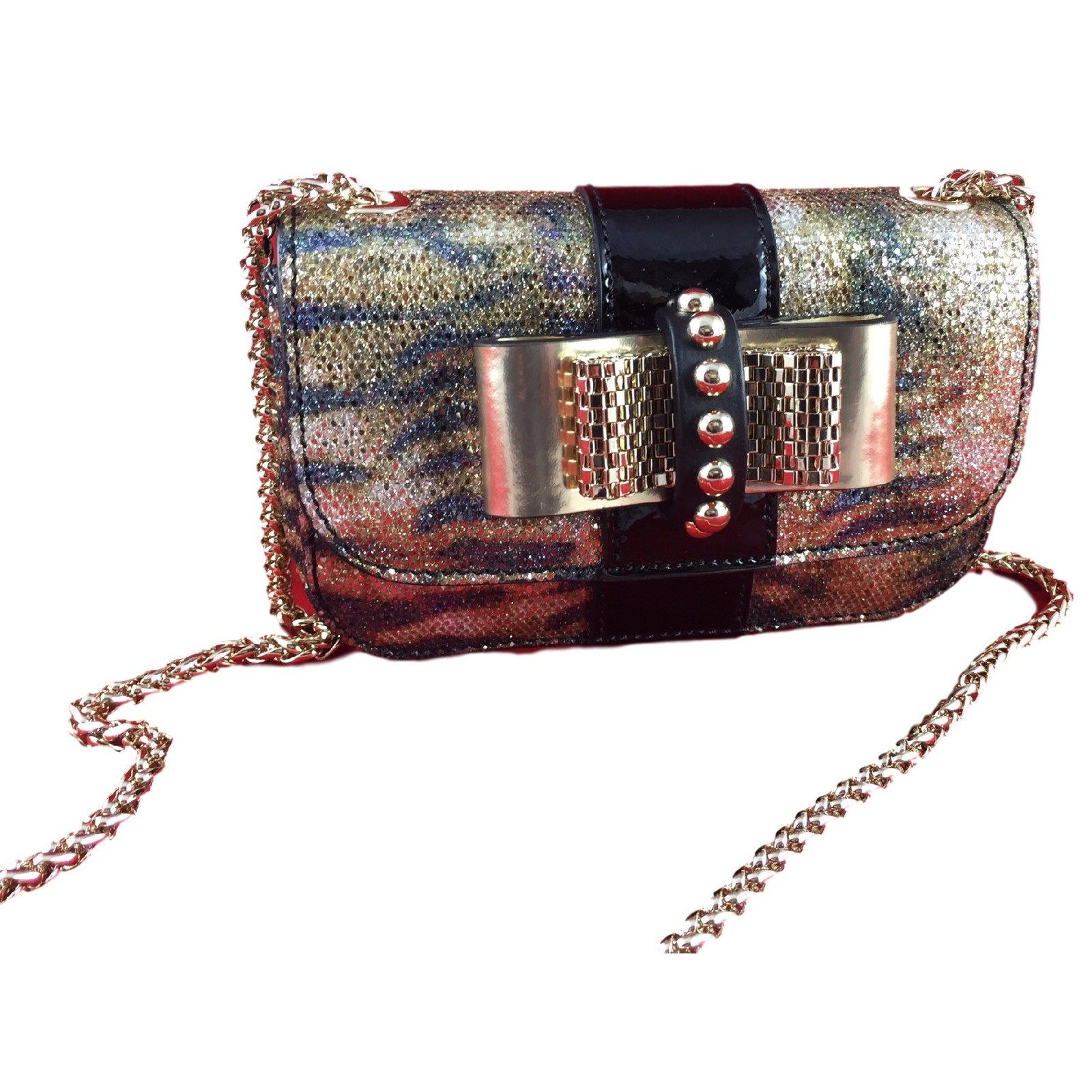 Louboutin Sweet Charity Lizard Handbags Leather Python Print Ref 19102