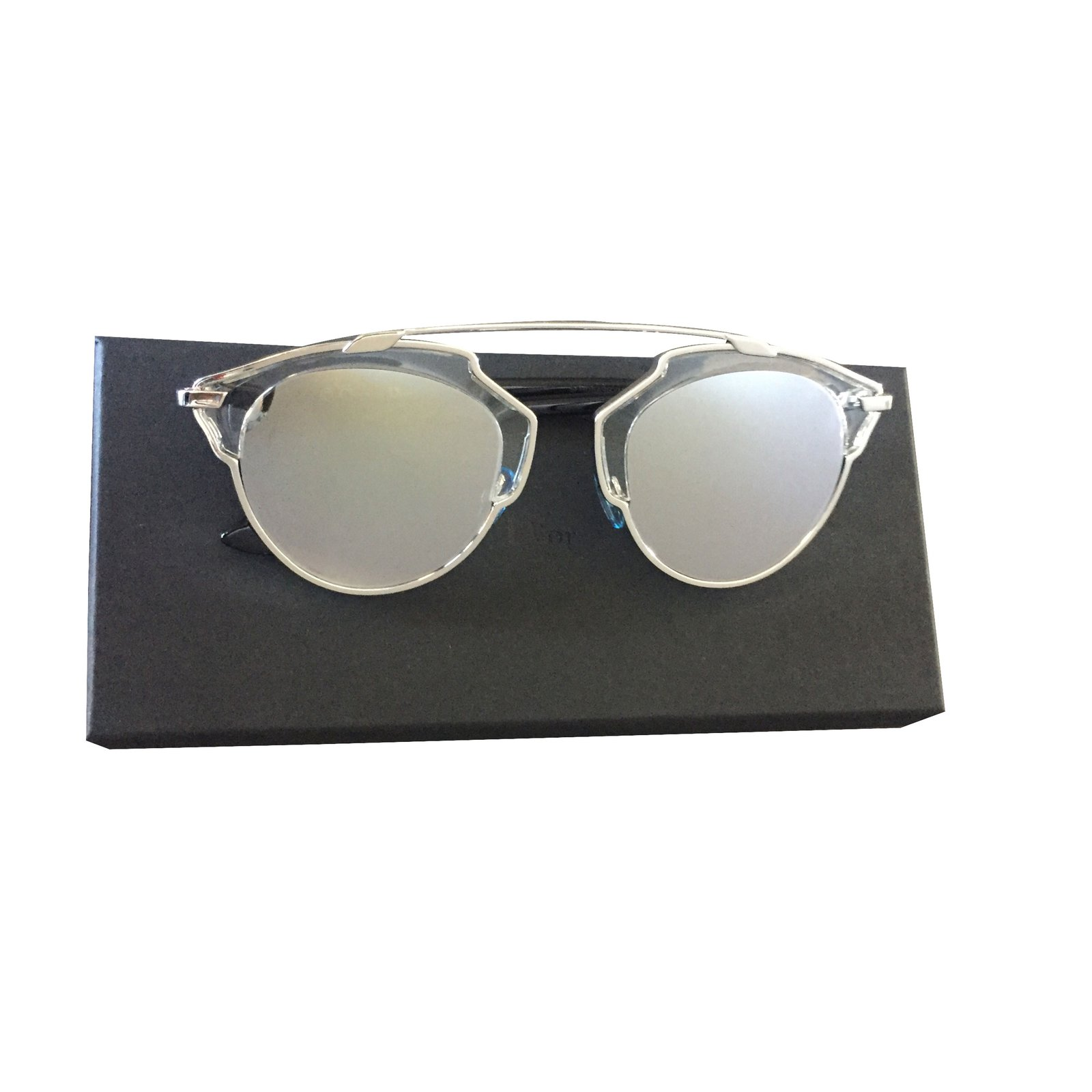 a9d352a6e193 Christian Dior Dior so real silver Sunglasses Metal Metallic ref.19279