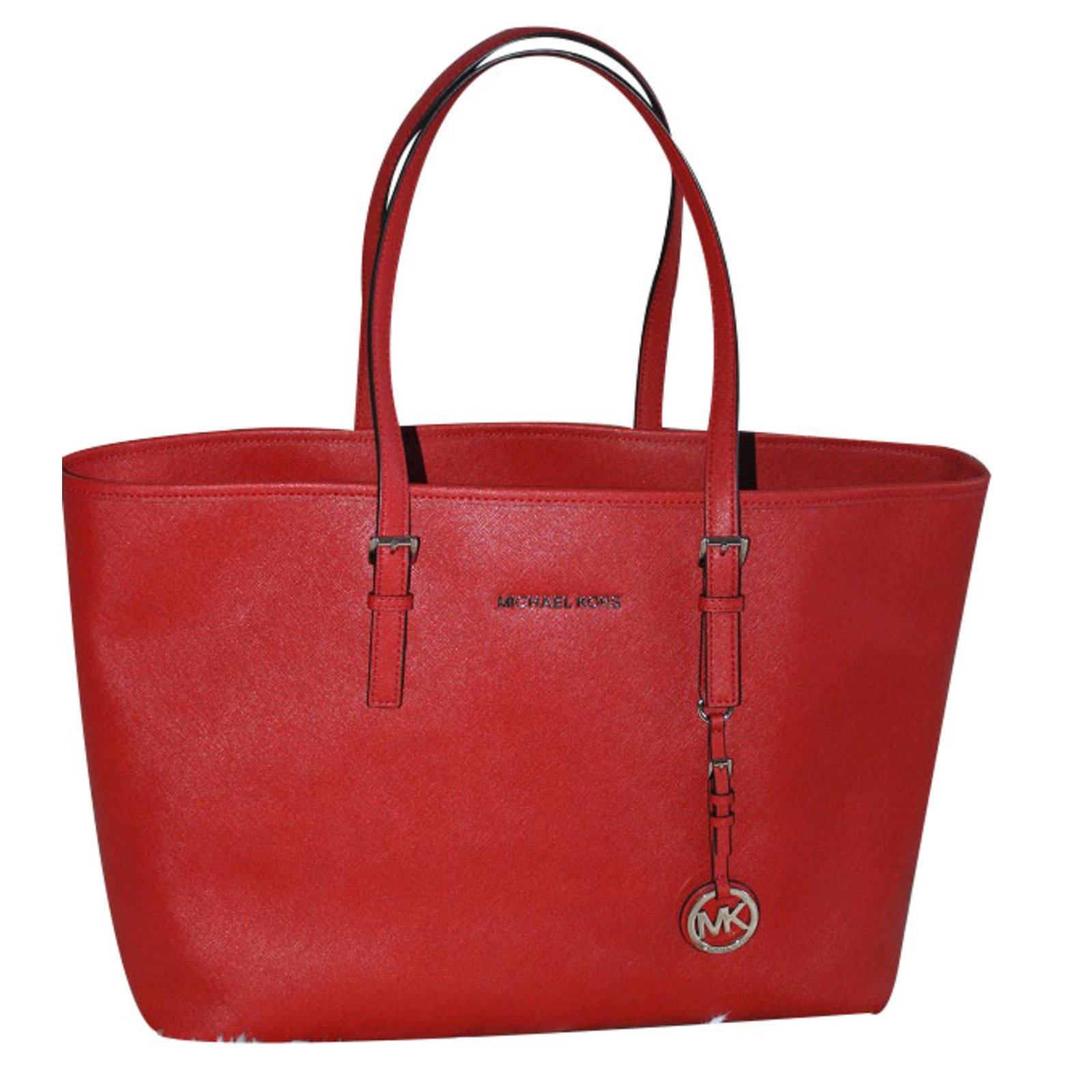 8920b308fb Cabas Michael Kors Sac cabas Jet set travel Michael Kors grand modèle Cuir  Rouge ref.