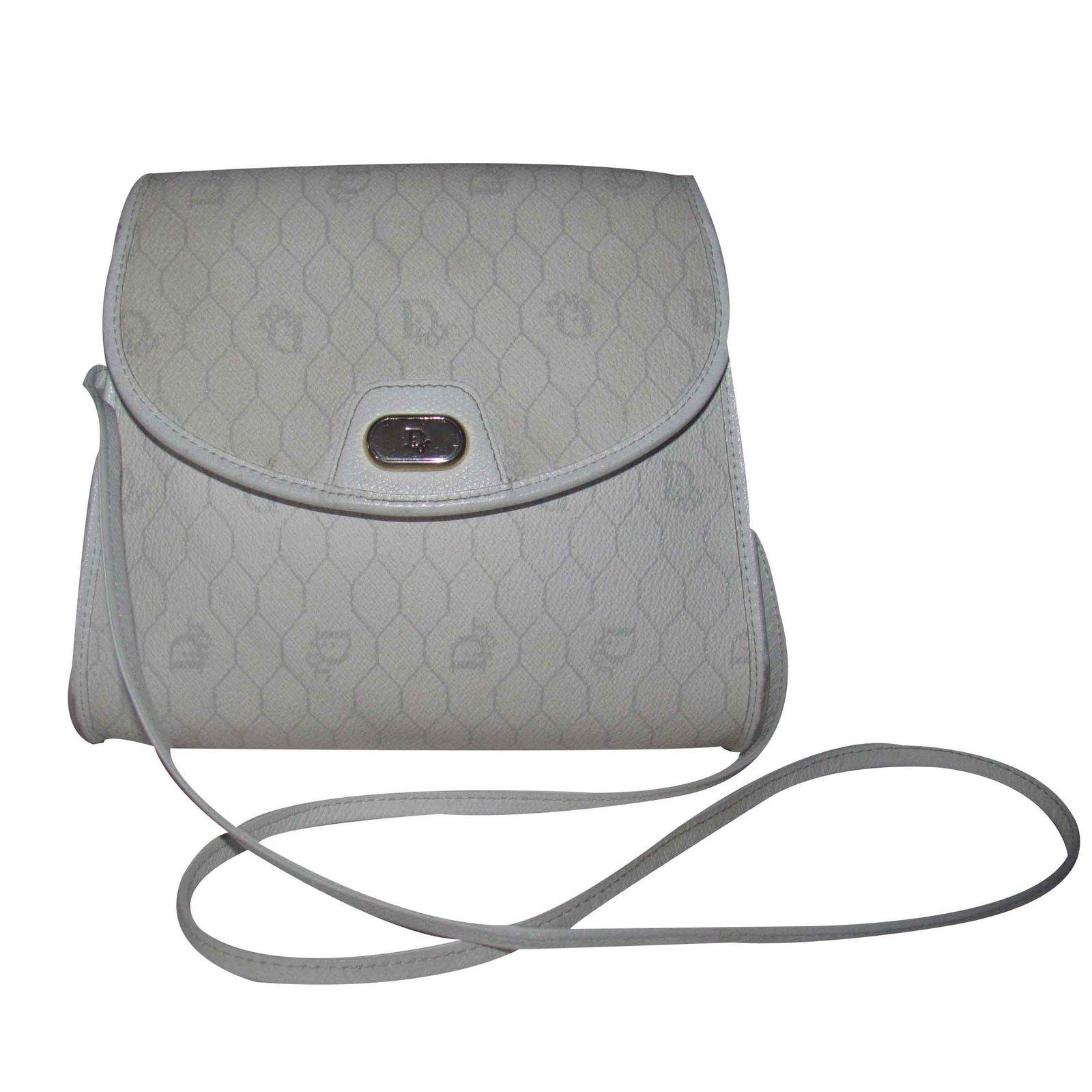 Sacs �� main Dior Sacs �� main Cuir Blanc ref.19486 - Joli Closet