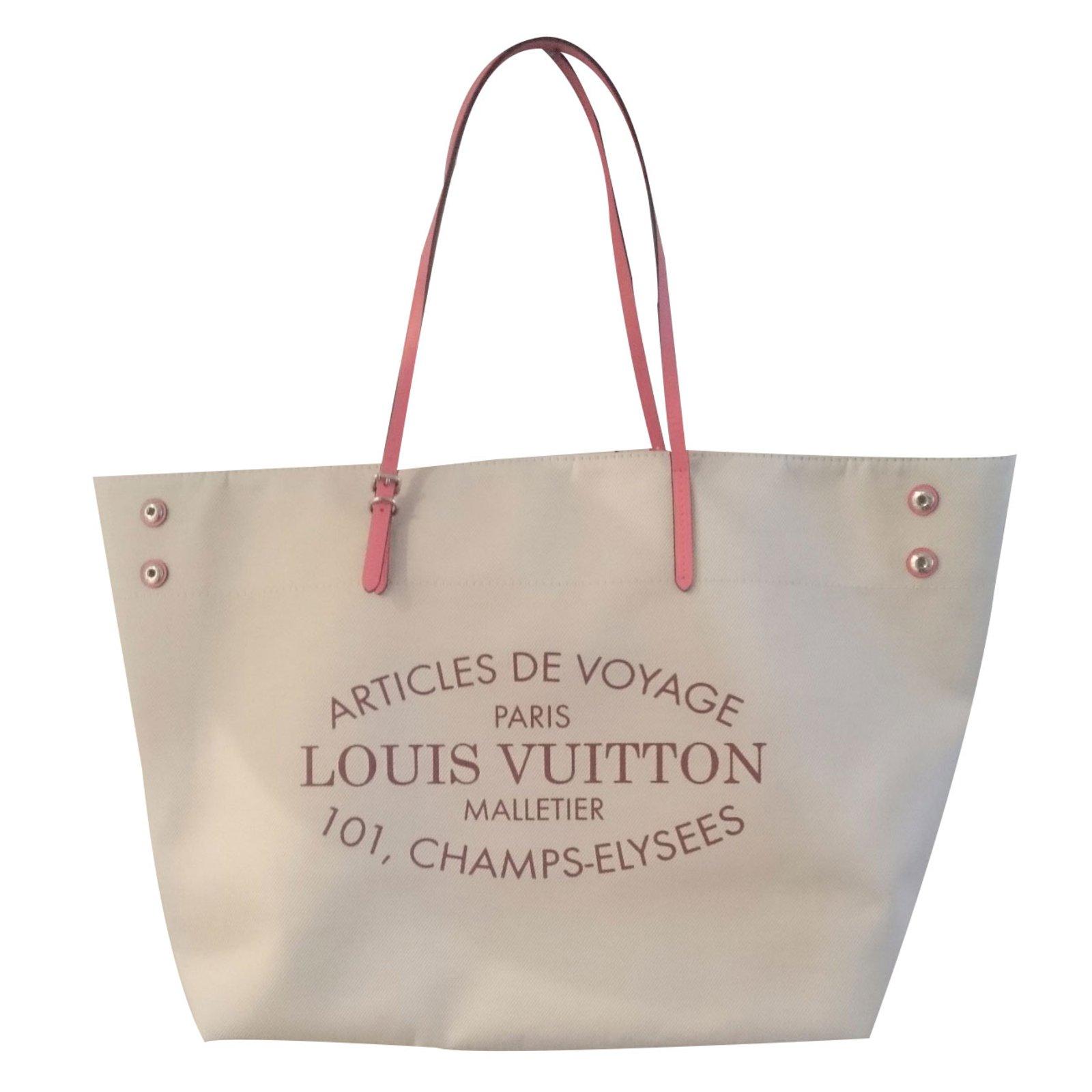 a613234d3282 Louis Vuitton Tote bag Totes Cotton Beige ref.19602 - Joli Closet