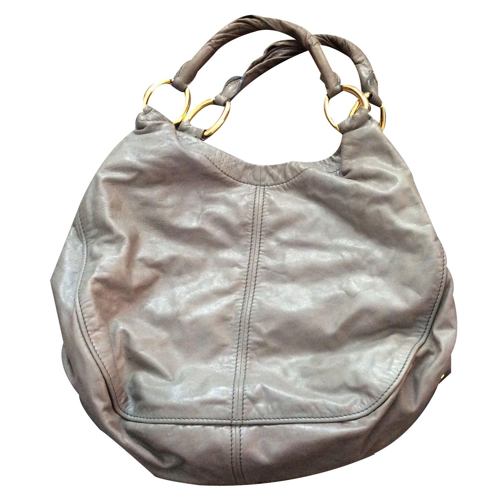 0ffd519cdc28 Miu Large Hobo Handbags Leather Grey Ref 19765 Joli Closet. Handbags 5be896  Fvj F0002 V Ooo Loading