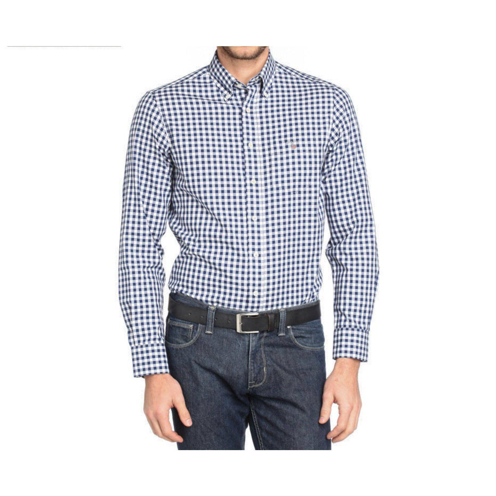 chemises autre marque chemise gant coton bleu joli closet. Black Bedroom Furniture Sets. Home Design Ideas