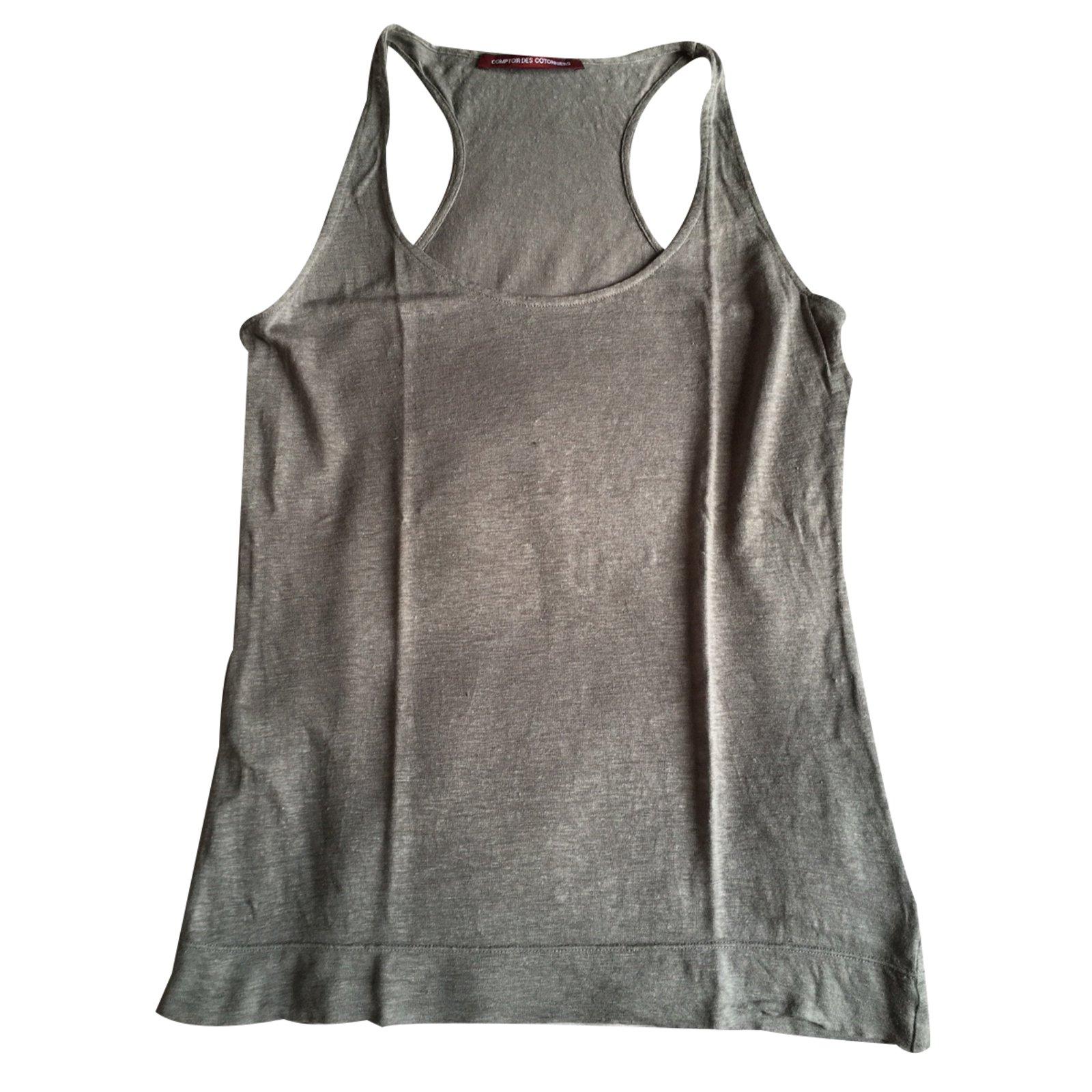 ae77ae9c625cc Comptoir des cotonniers tops linen grey ref joli closet jpg 1600x1600 Linen  tops