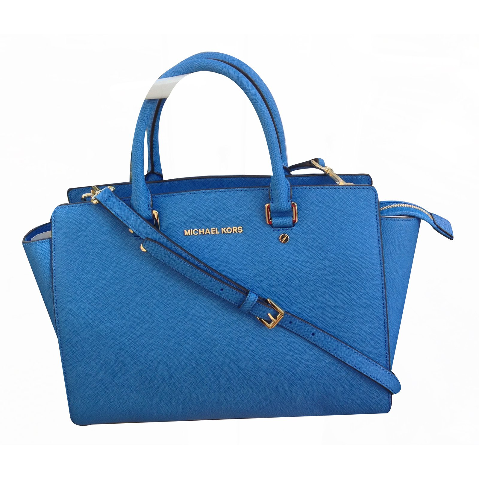 77b55dba462c0b Michael Kors Selma Large Tz Satchel In Heritage Blue Tote Bag Handbags  Leather Blue ref.