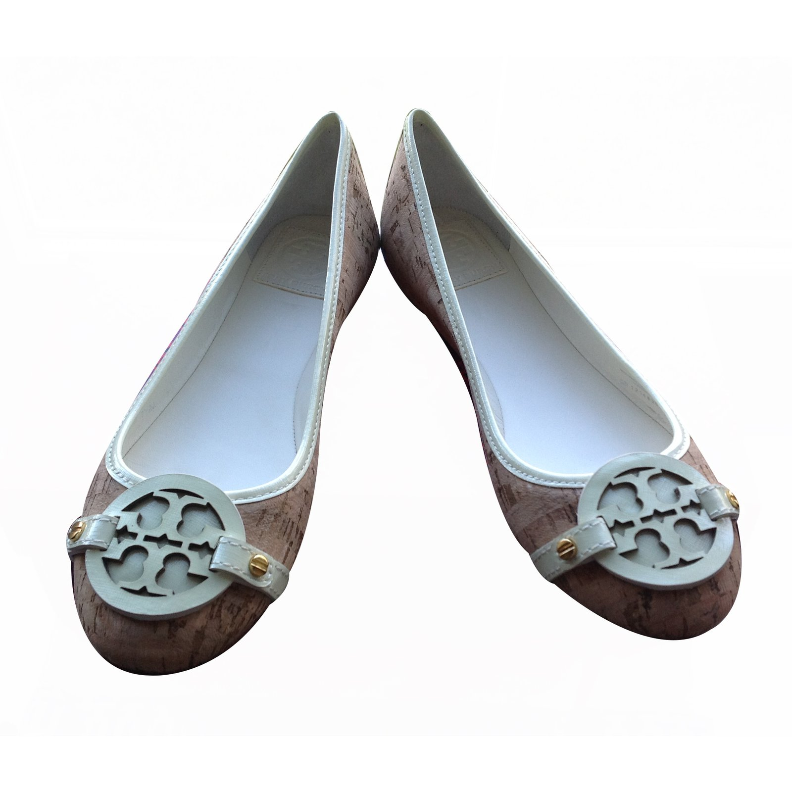 d1493c0bb22 Tory Burch Aaden Ballet cork natural ivory Ballet flats Leather Multiple  colors ref.20577