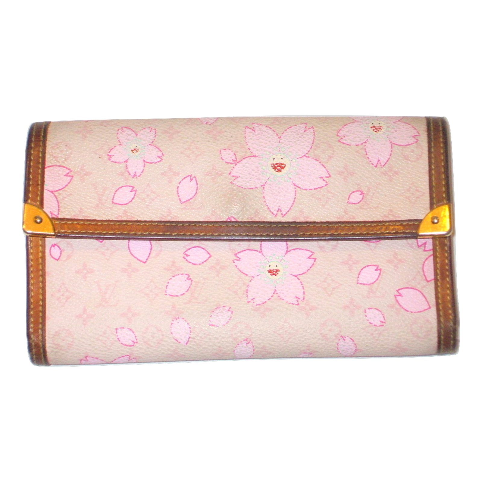 40330f0ec2fc Louis Vuitton Cherry Blossom Takashi Murakami Wallets Synthetic Pink. Louis  Vuitton Limited Edition Cherry Blossom Monogram Canvas Sac Retro Bag