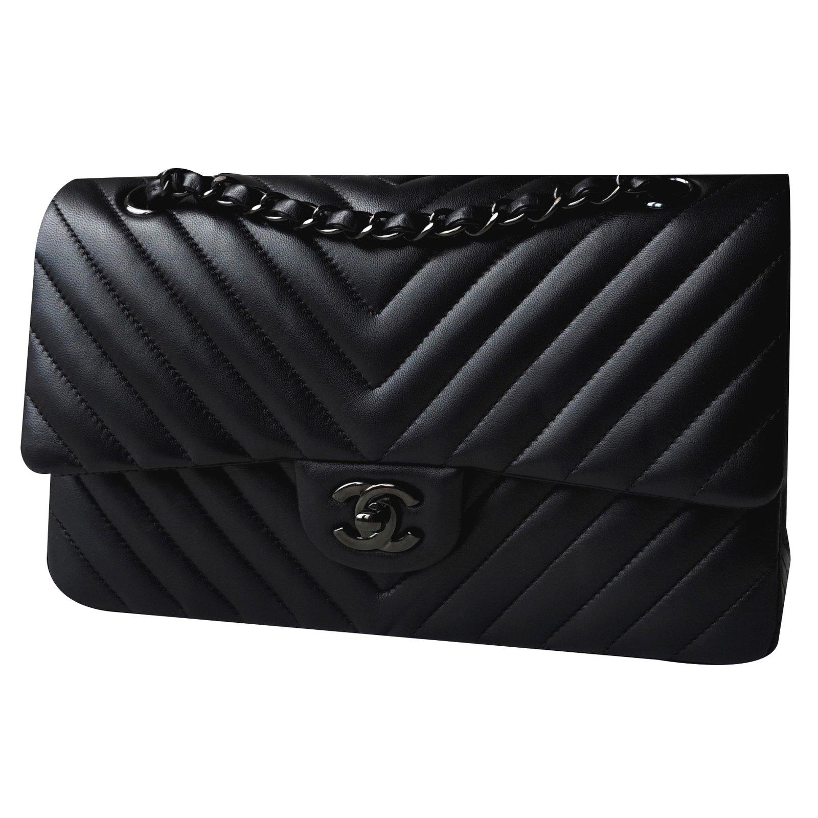 b03e9993d78 Chanel Timeless So Black Handbags Lambskin Ref 20645 Joli Closet
